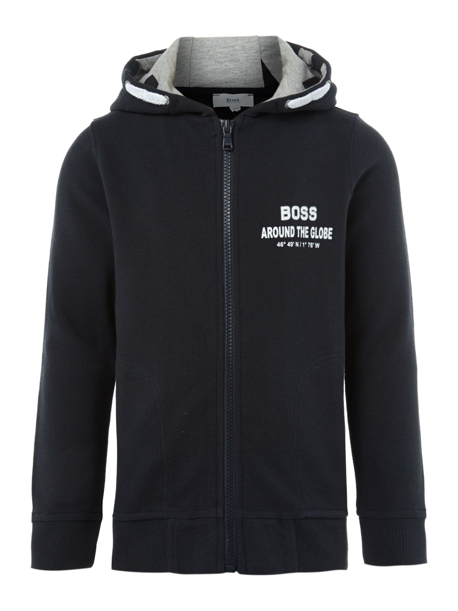 Boy`s pique fleece hooded top