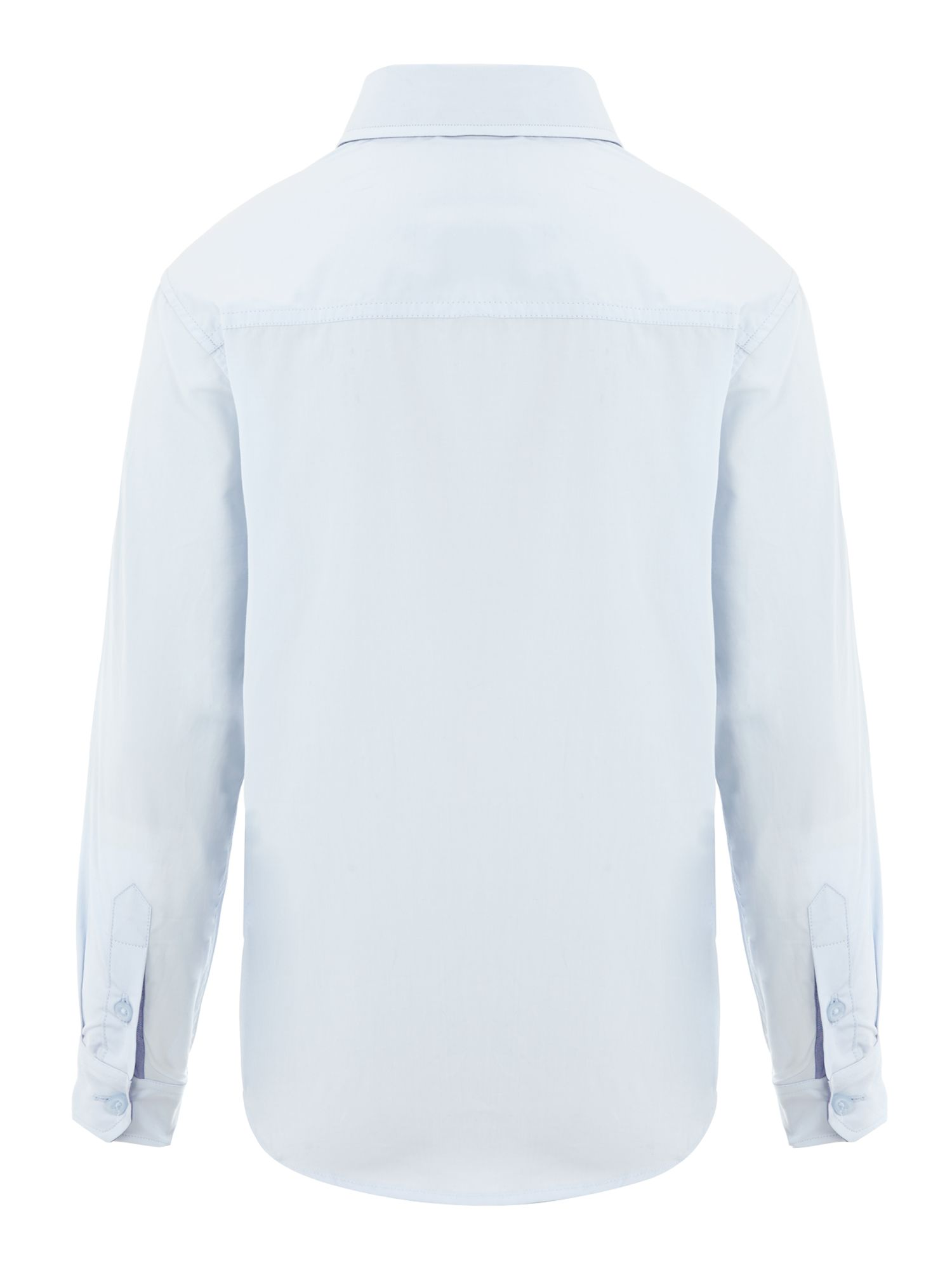 Boy`s poplin long sleeve shirt