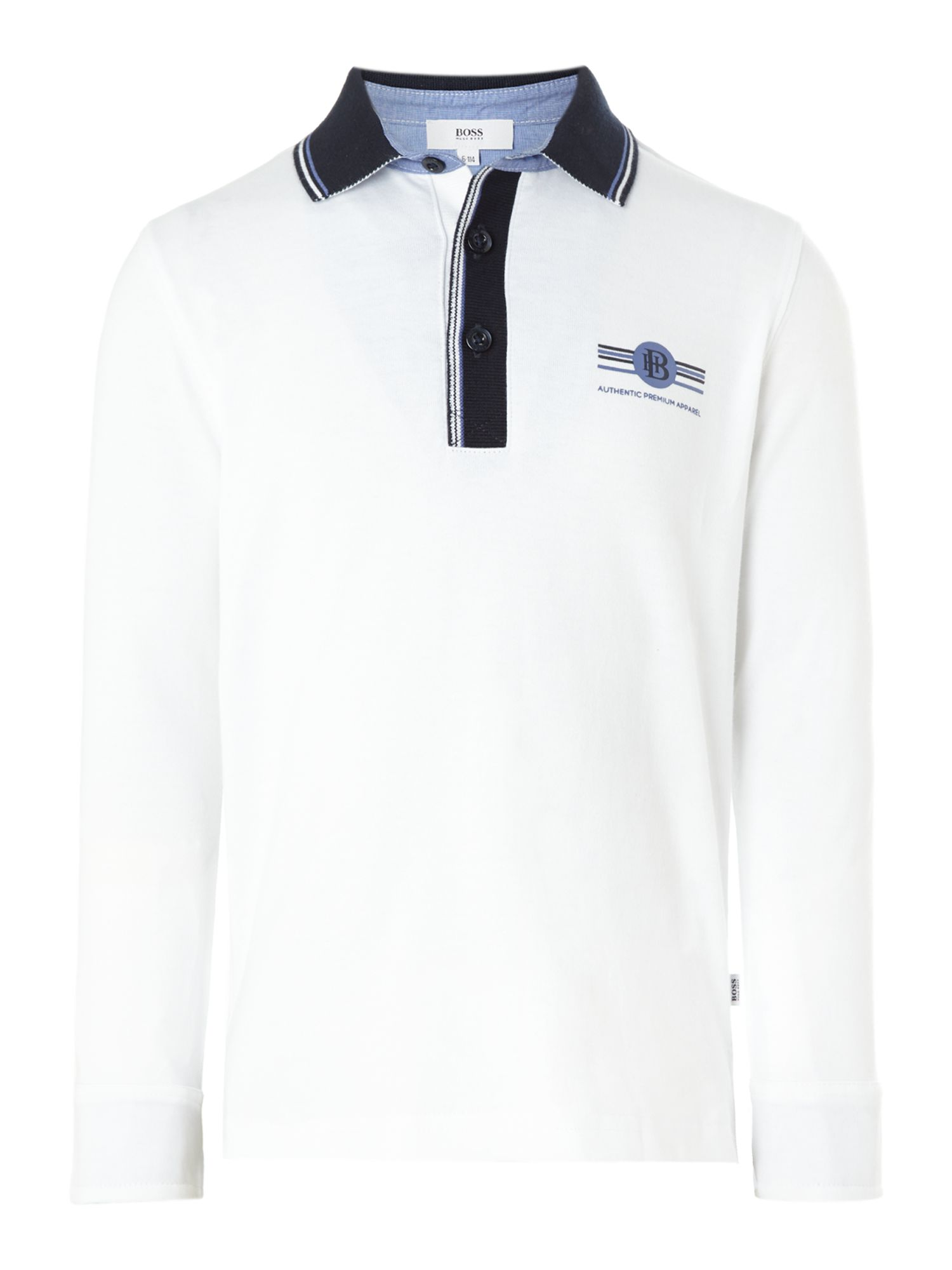 Boy`s jersey long sleeve polo shirt
