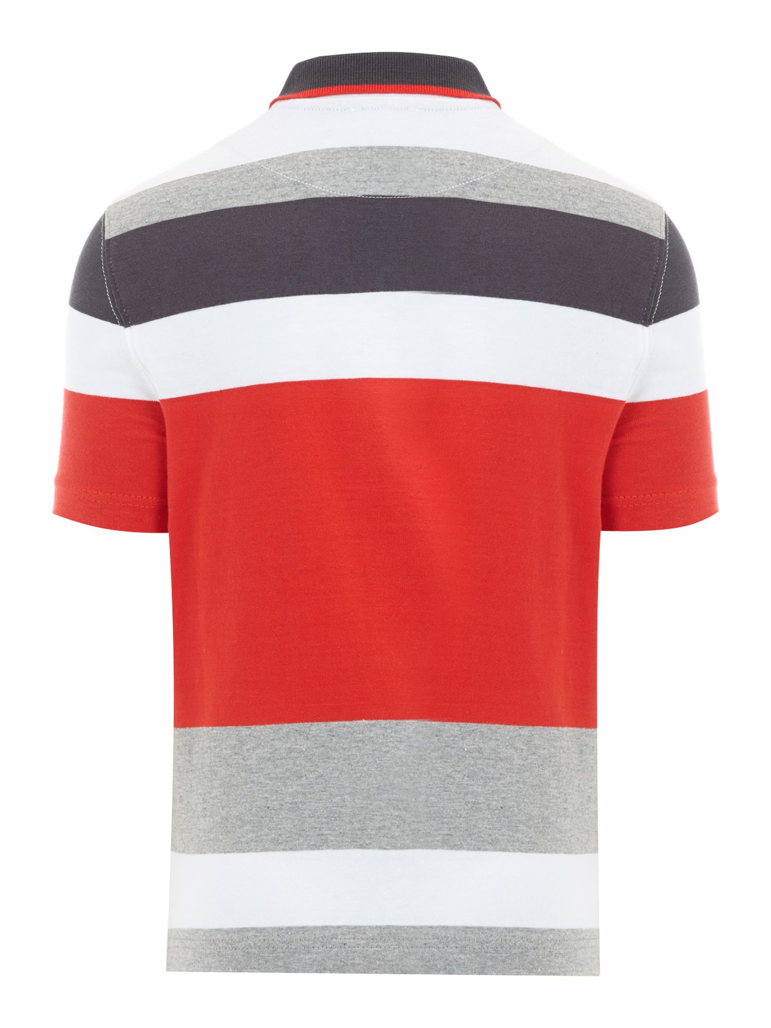 Boy`s striped cotton pique polo shirt