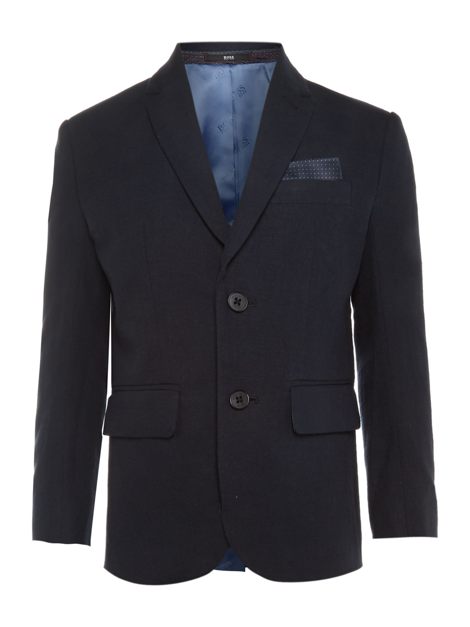 Hugo Boss Boy`s cotton linen blazer jacket Navy