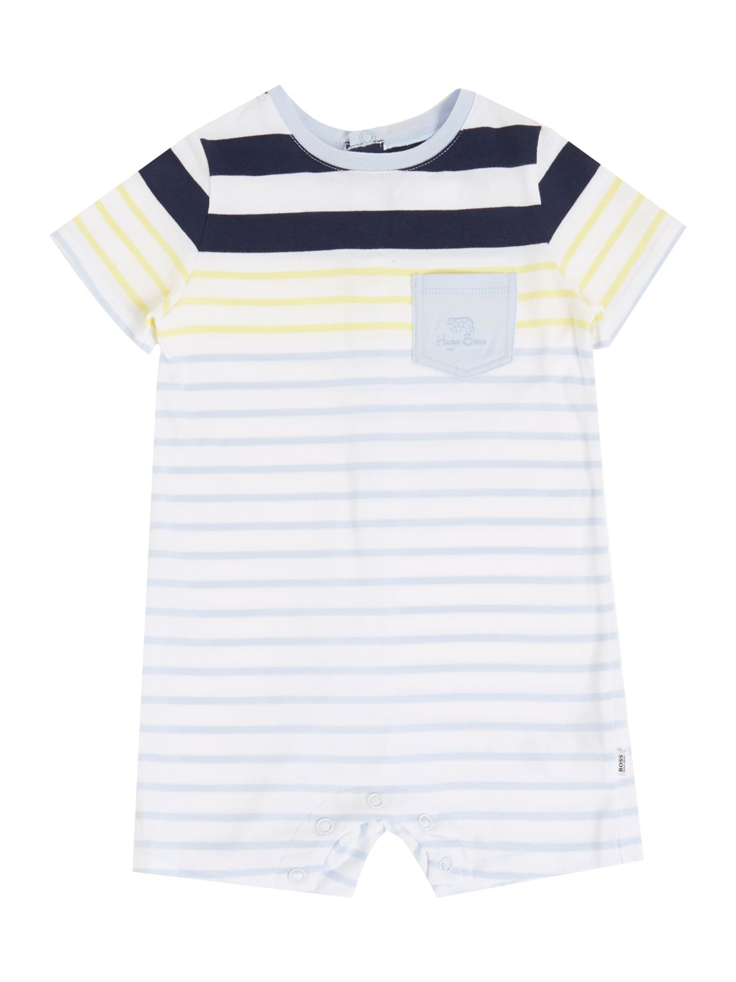 Baby boy`s striped all in one