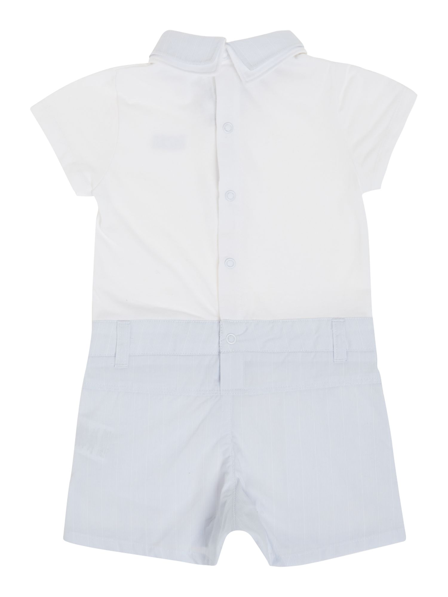 Baby boy`s polo and shorts in all in one