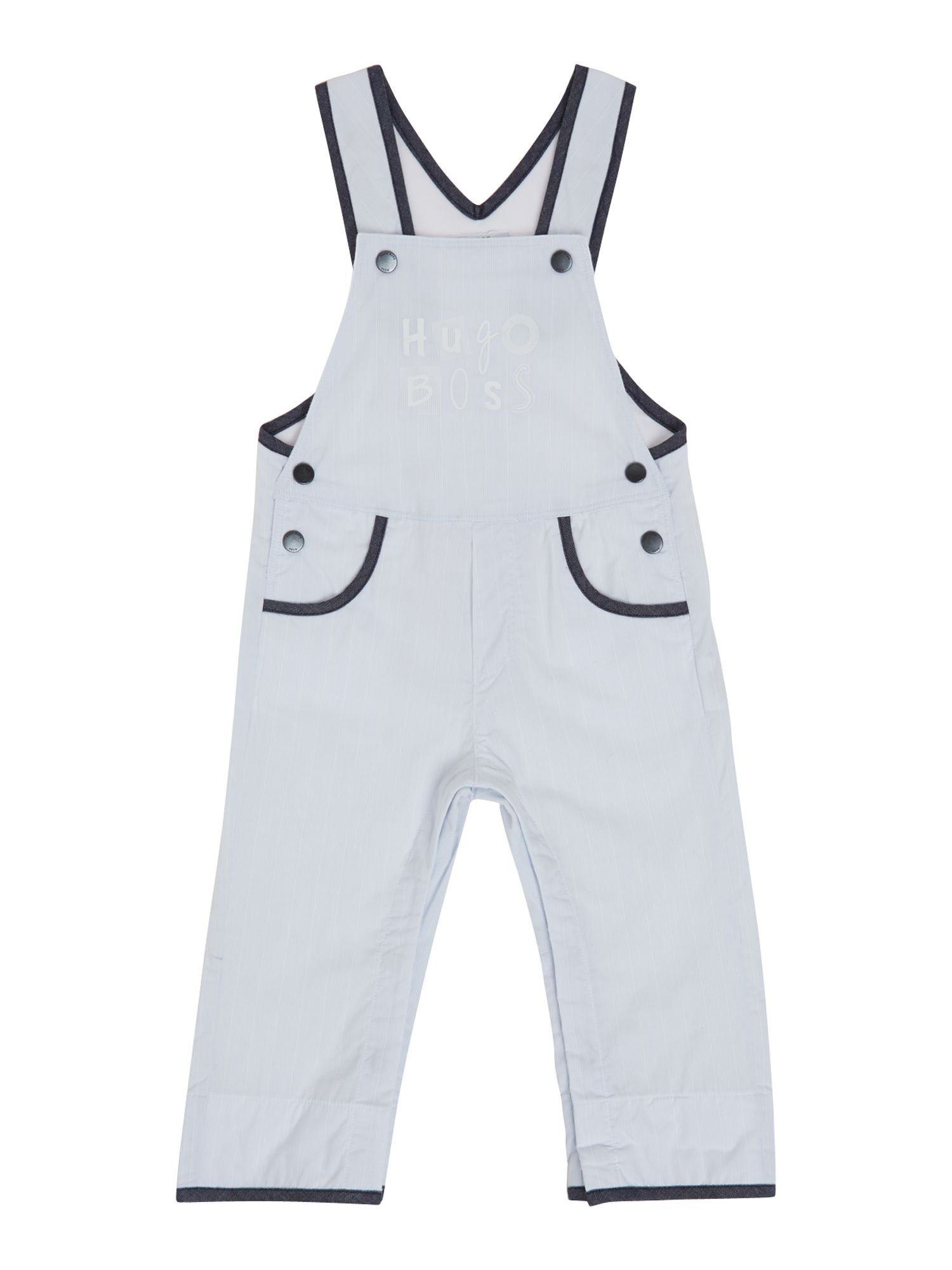 Boy`s striped dungarees