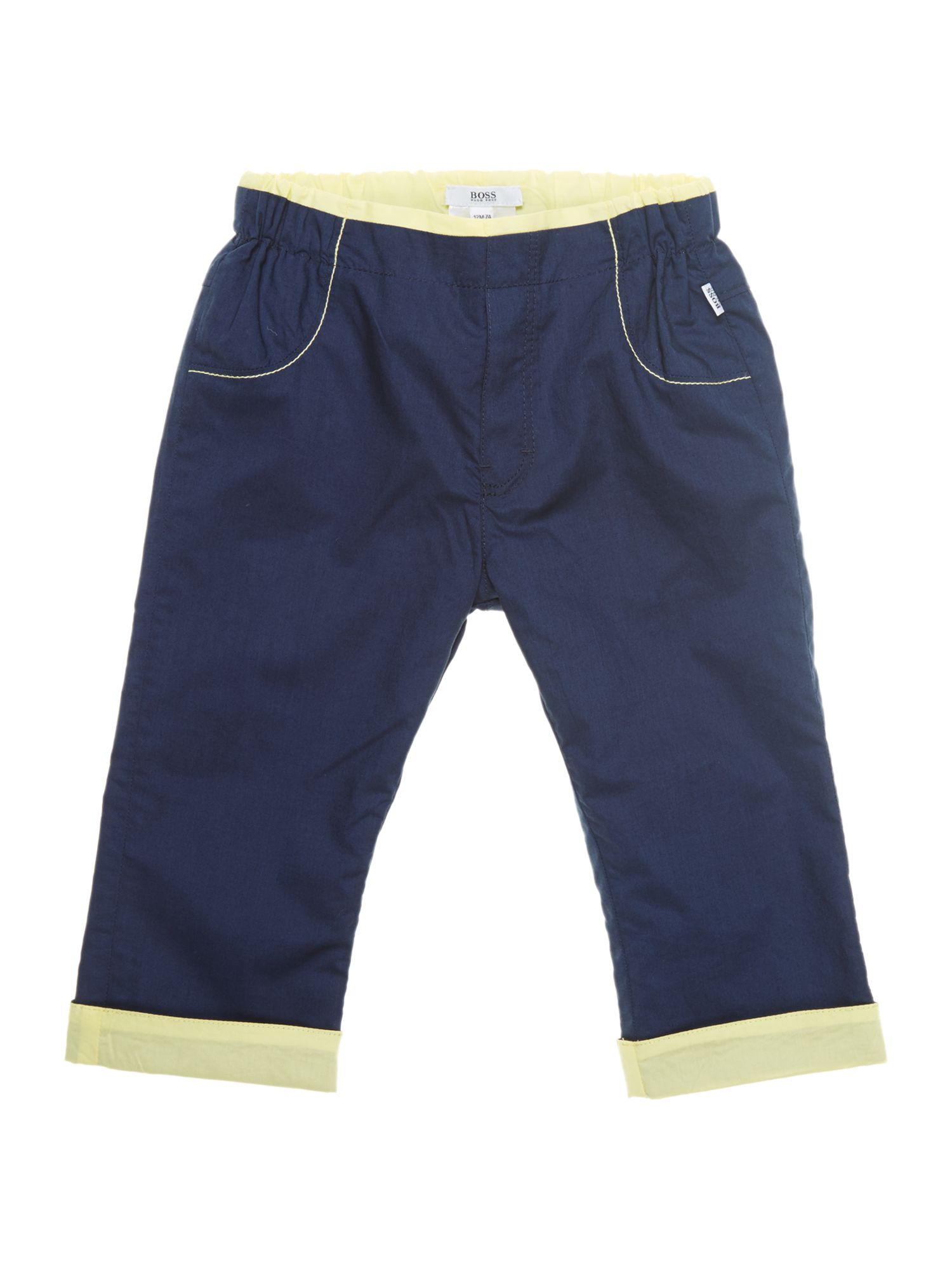 Boy`s reversible poplin trousers
