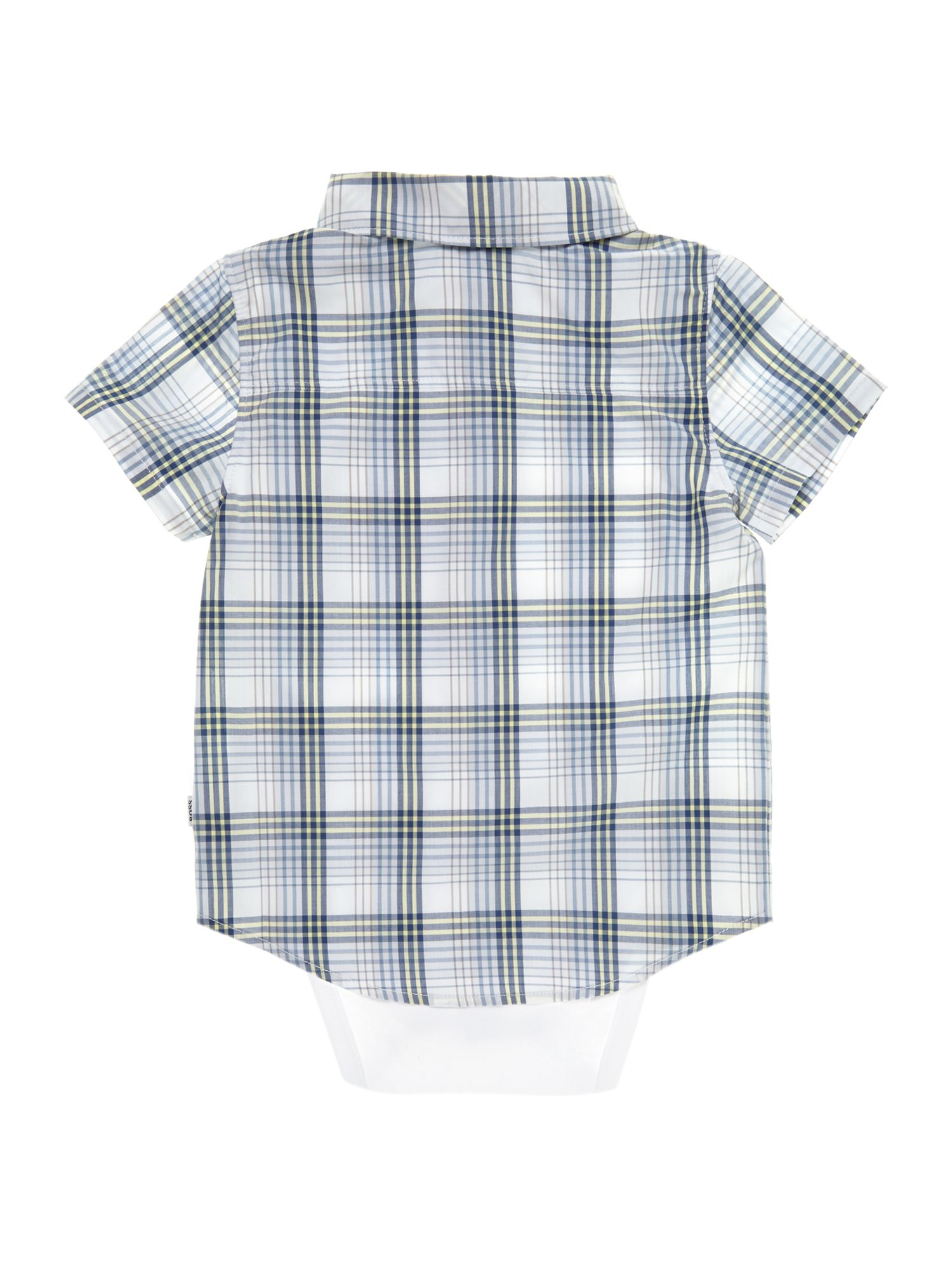 Baby boys jersey and poplin bodysuit