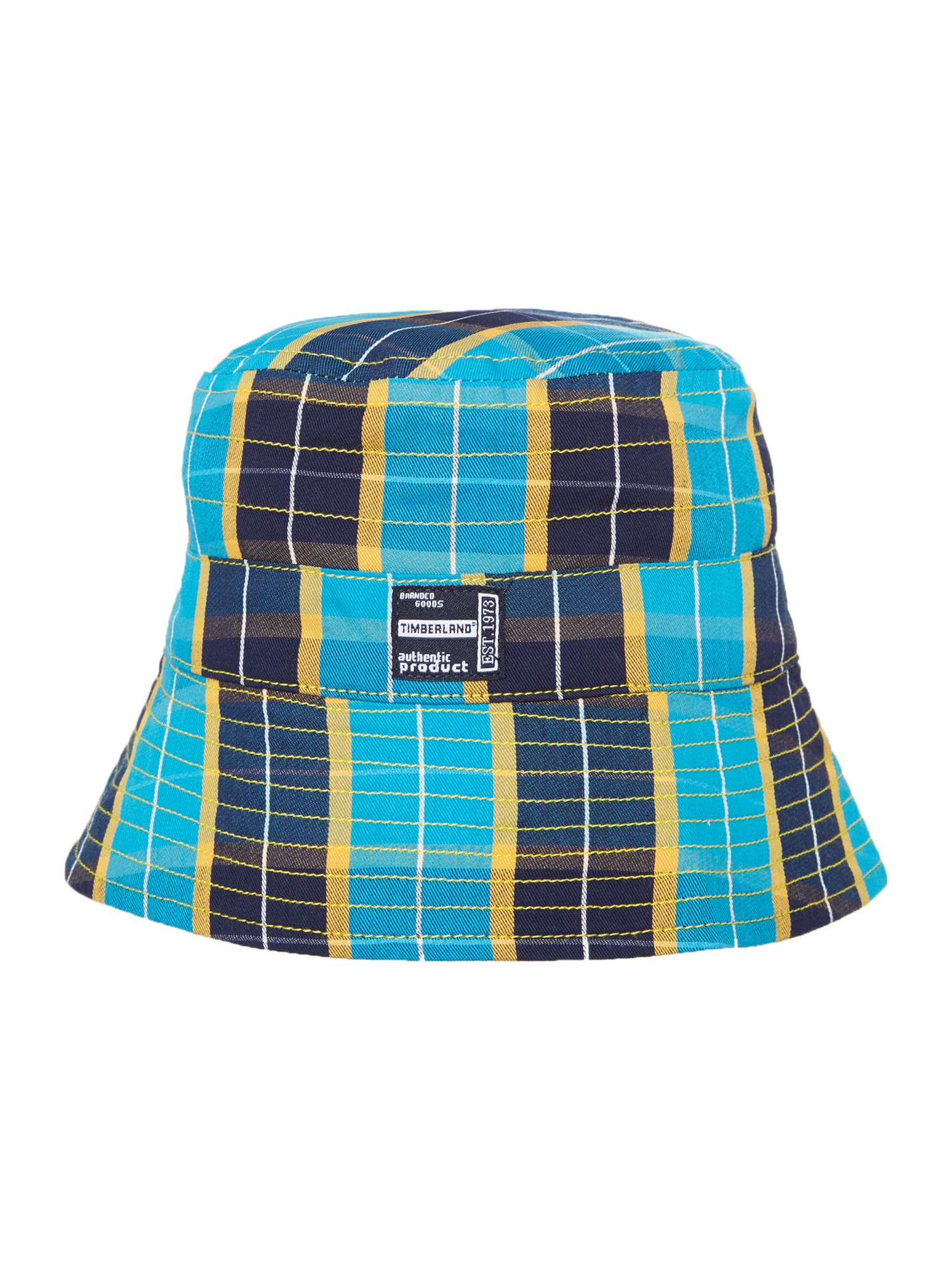 Boy`s reversible twill and poplin hat