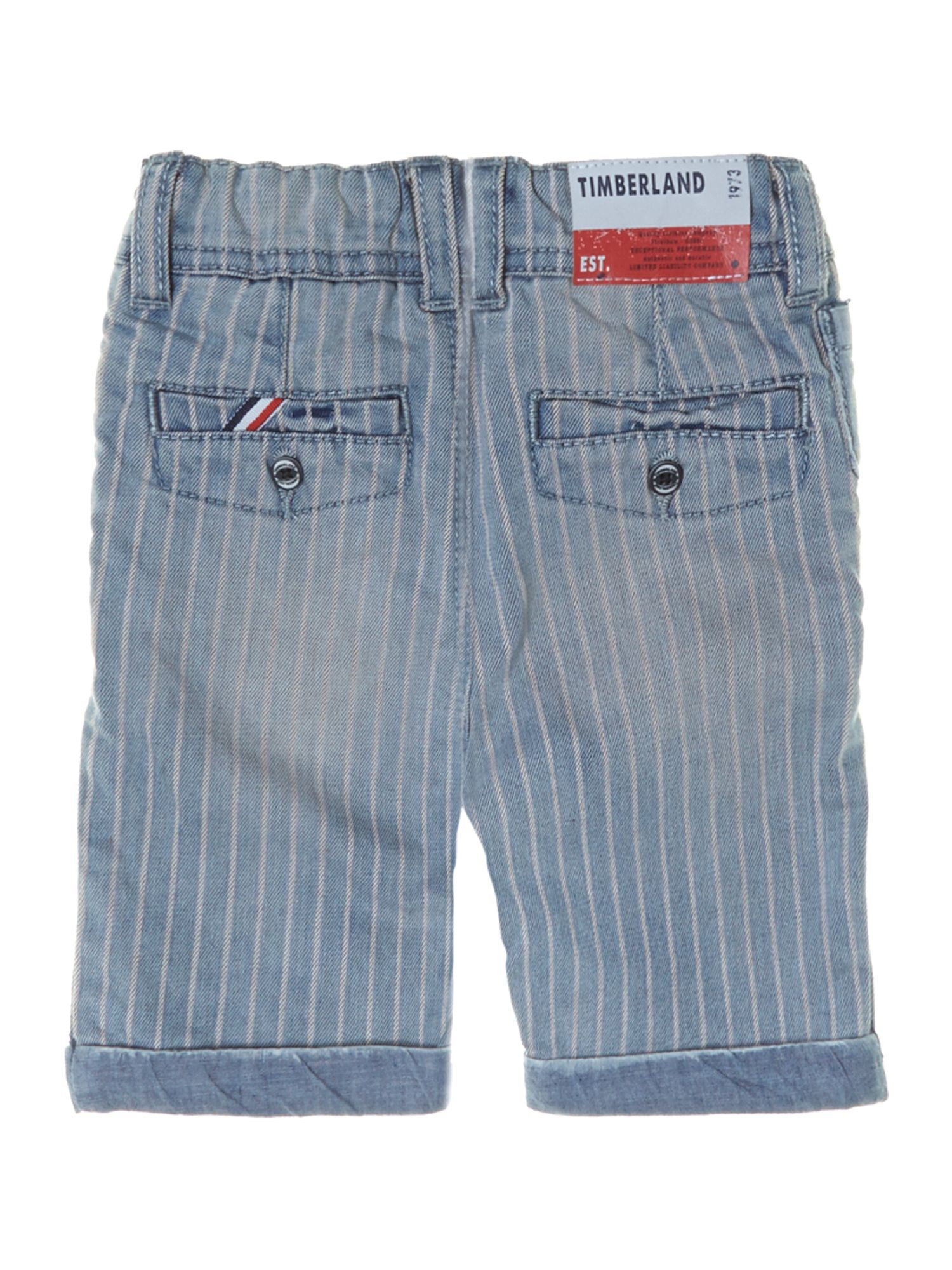 Boy`s striped denim bermuda shorts