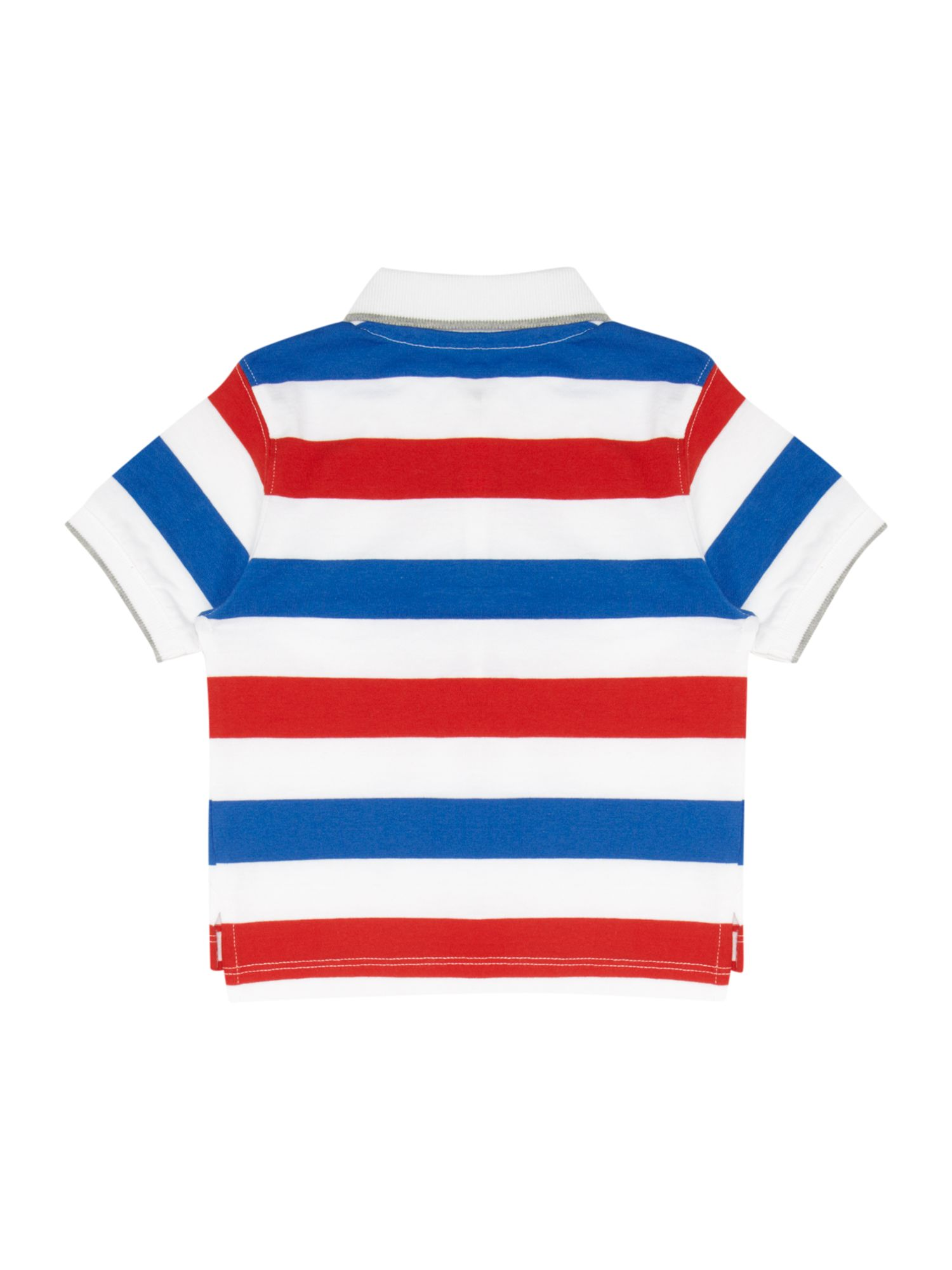 Boy`s striped short sleeve polo shirt