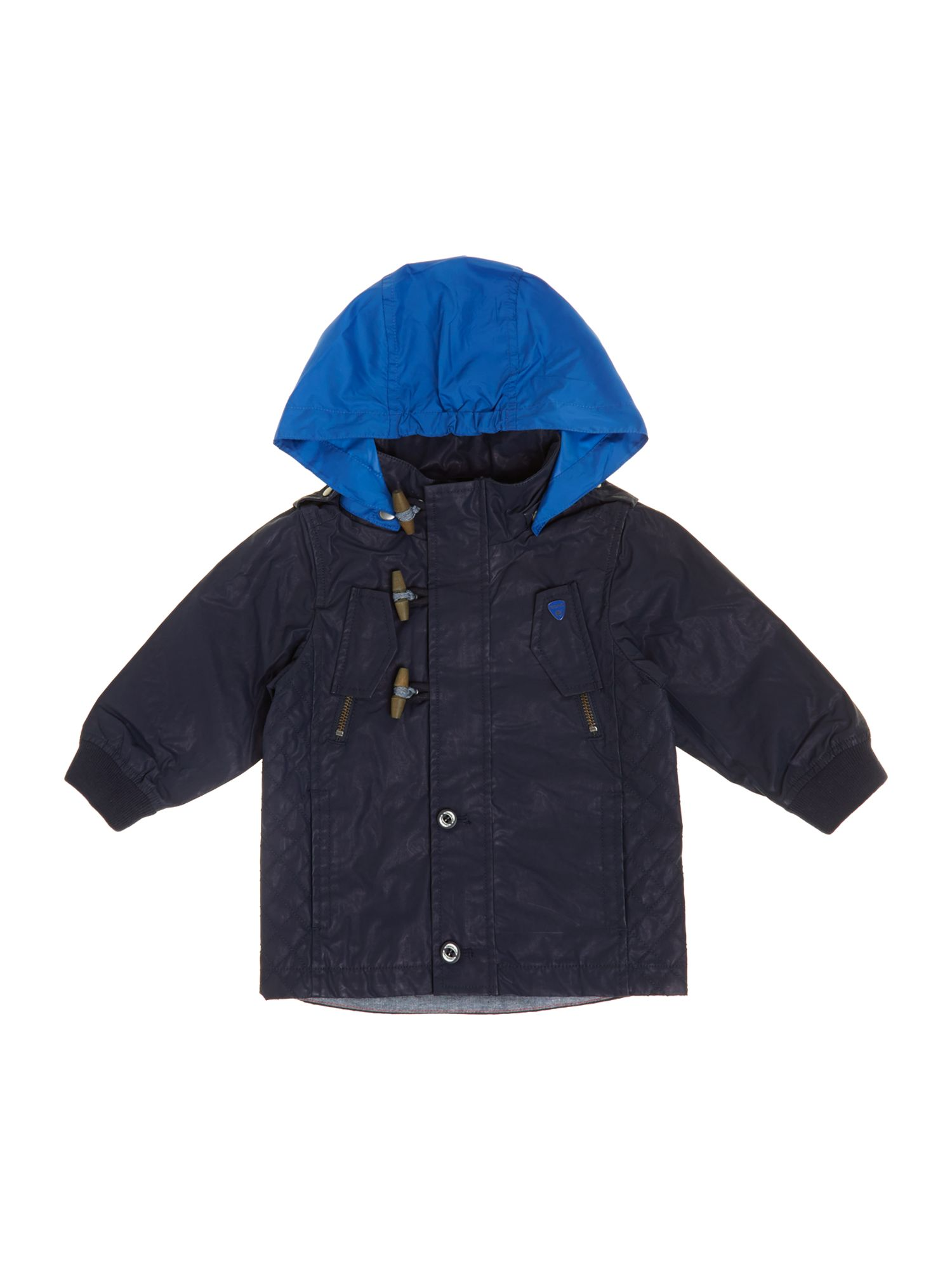 Boy`s coated hooded jacket