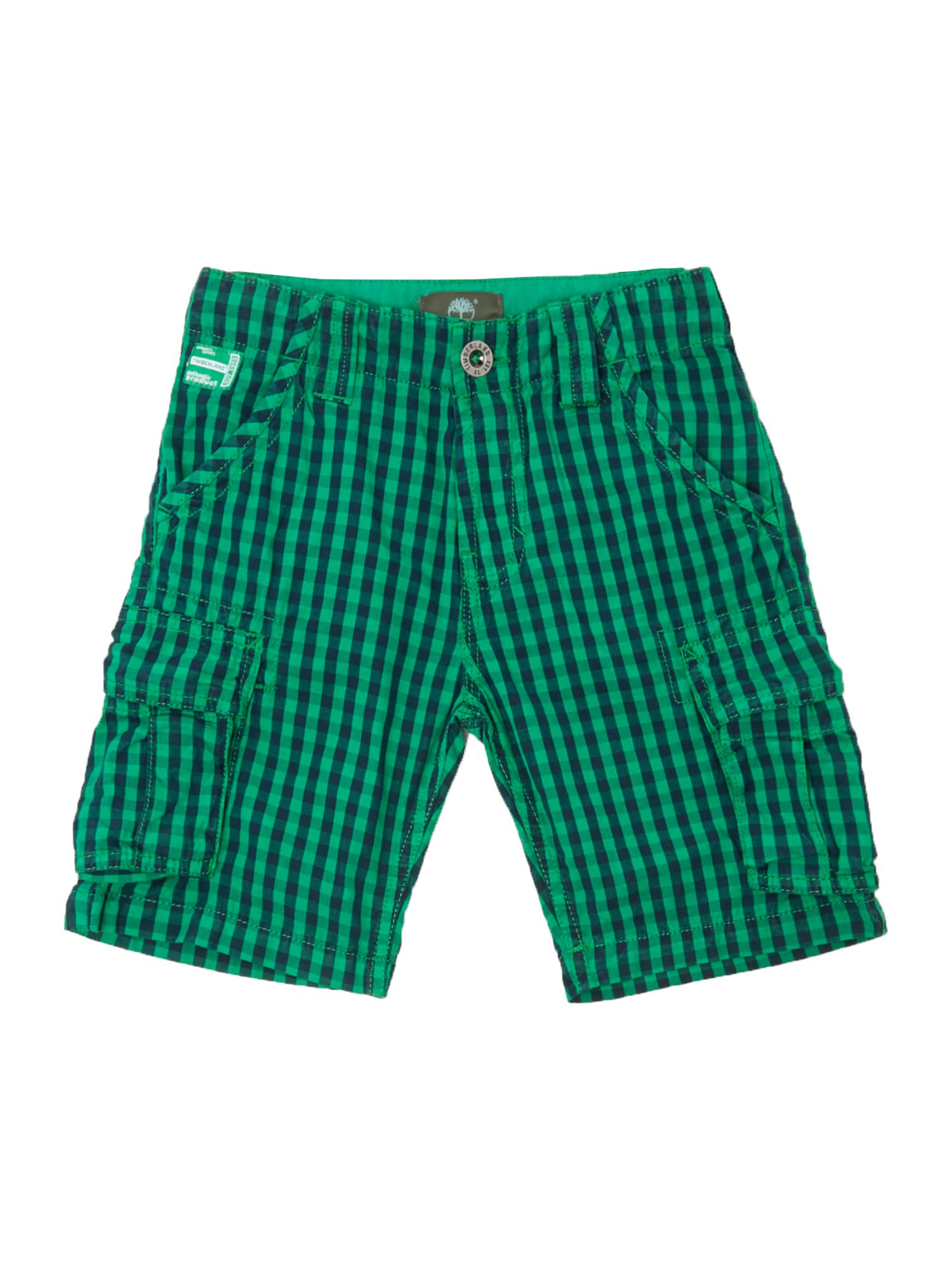 Boy`s poplin check bermuda shorts