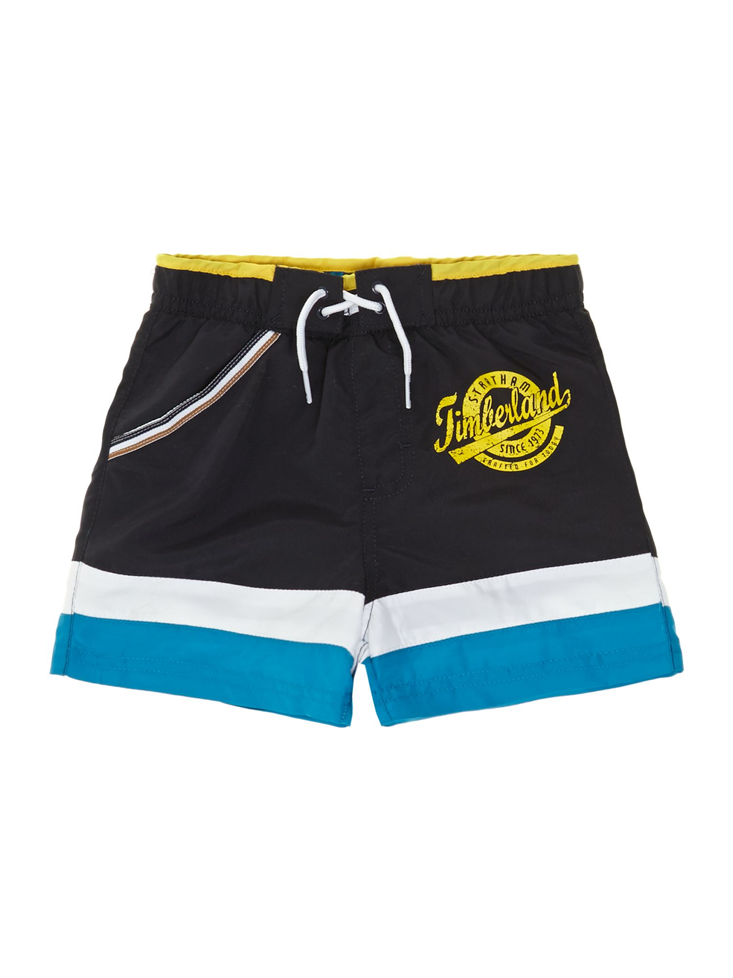 Boy`s stripe surfer shorts