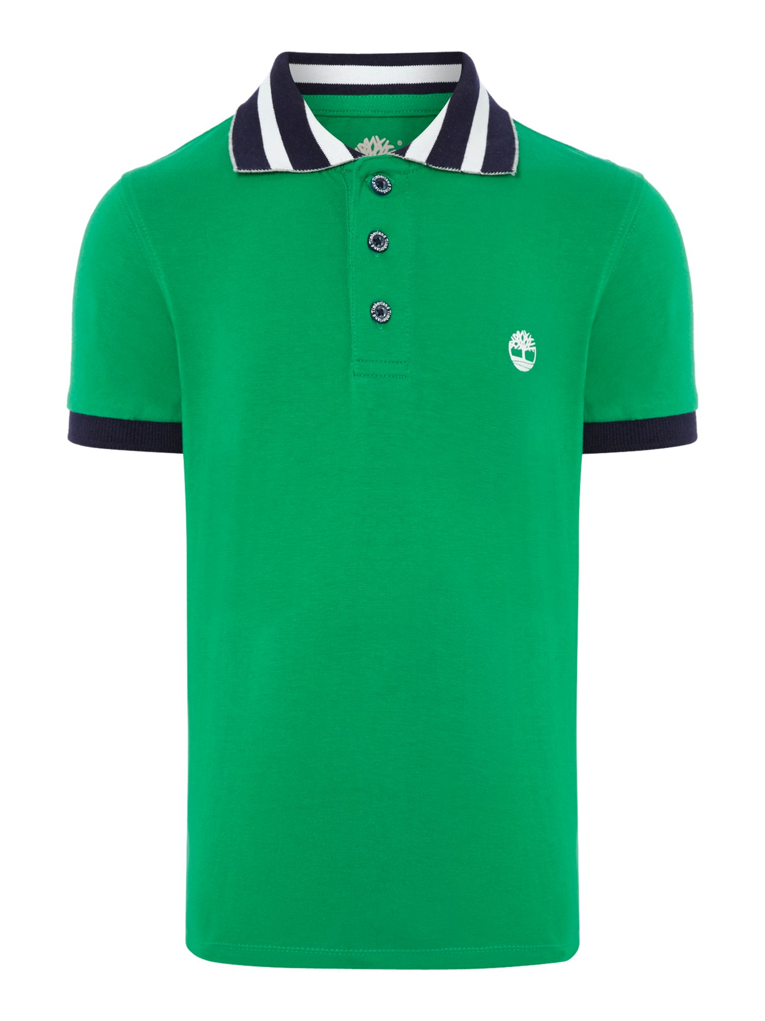 Boy`s stripe collar polo shirt