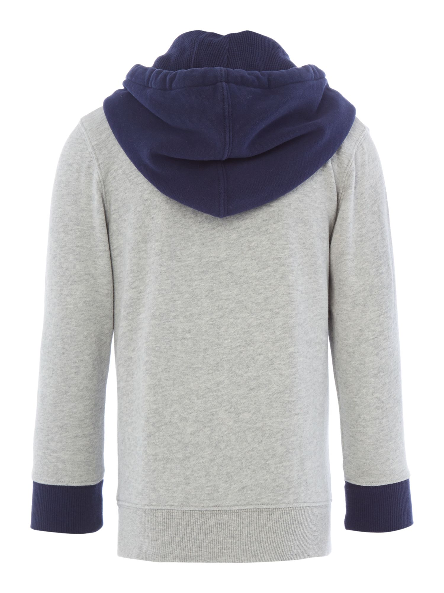 Boy`s two colour hooded top