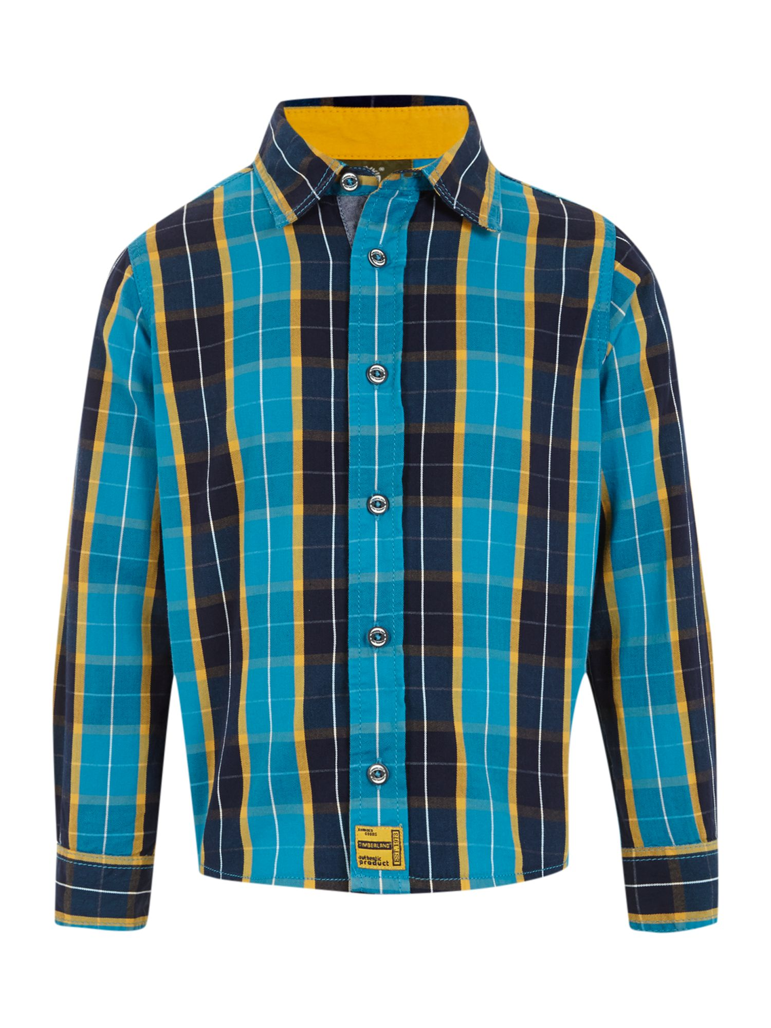 Boy`s twill check long sleeve shirt