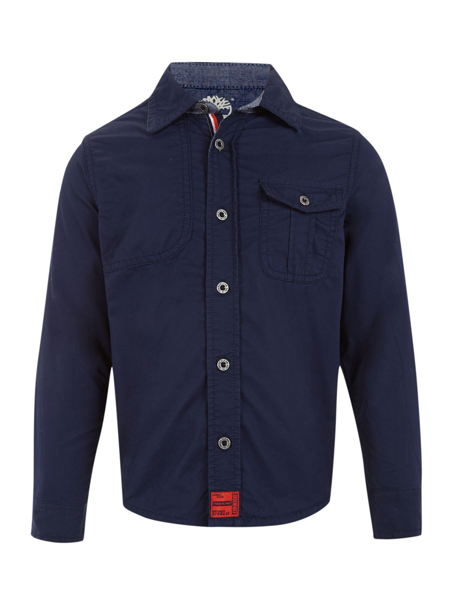 Boy`s twill long sleeve shirt
