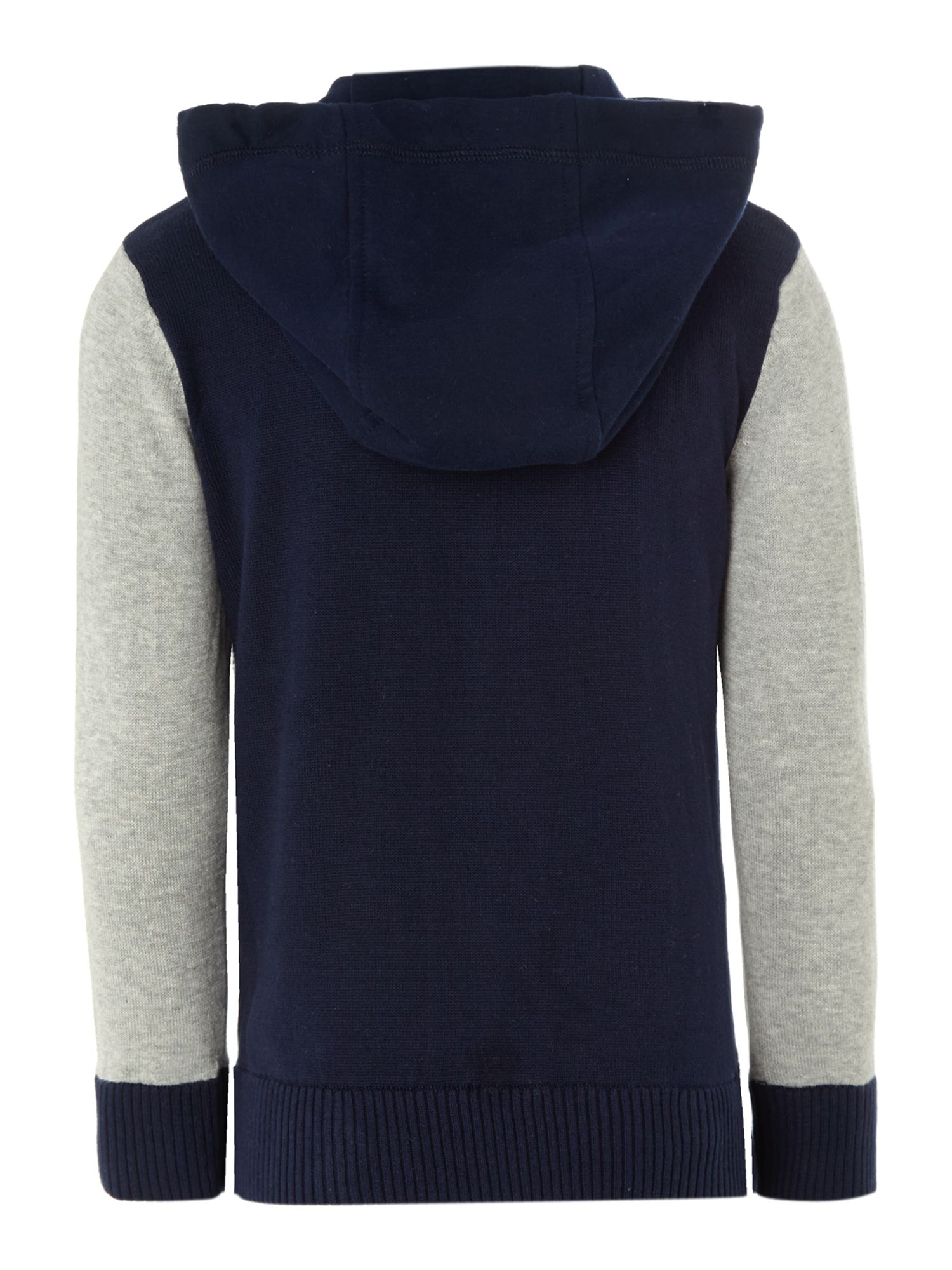 Boy`s knitted hooded top