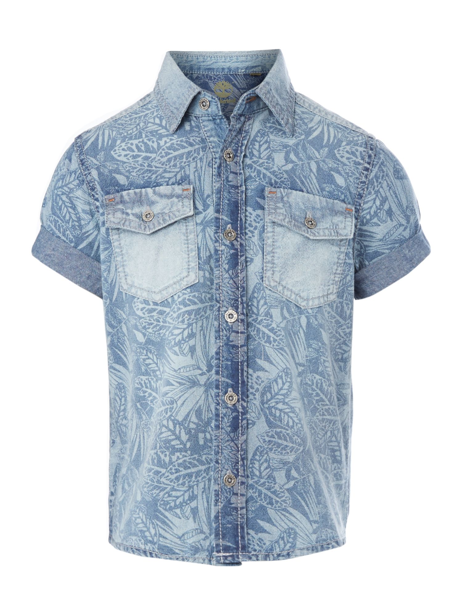 Boy`s printed poplin short sleeve shirt