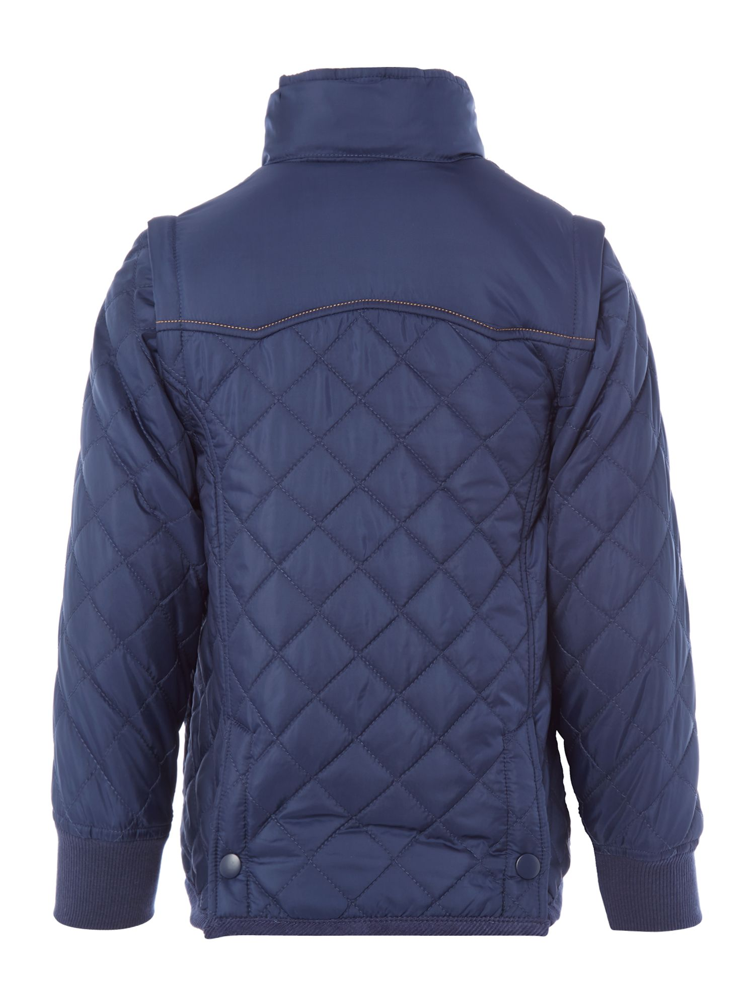 Boy`s hooded quilted jacket
