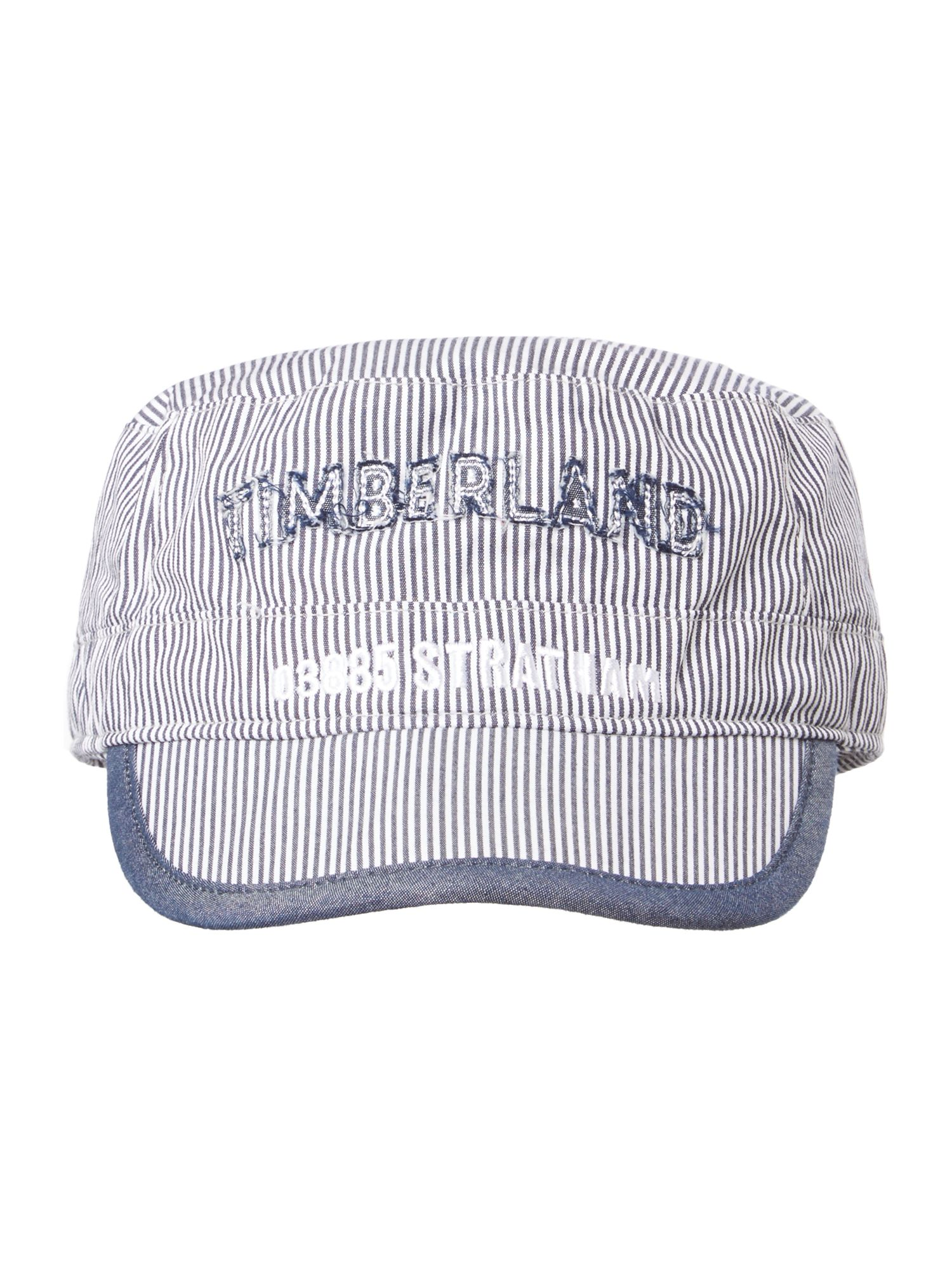 Boy`s striped poplin hat