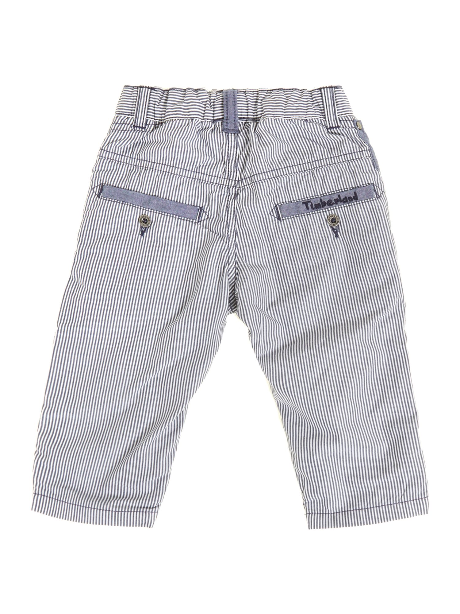 Boy`s striped poplin trousers