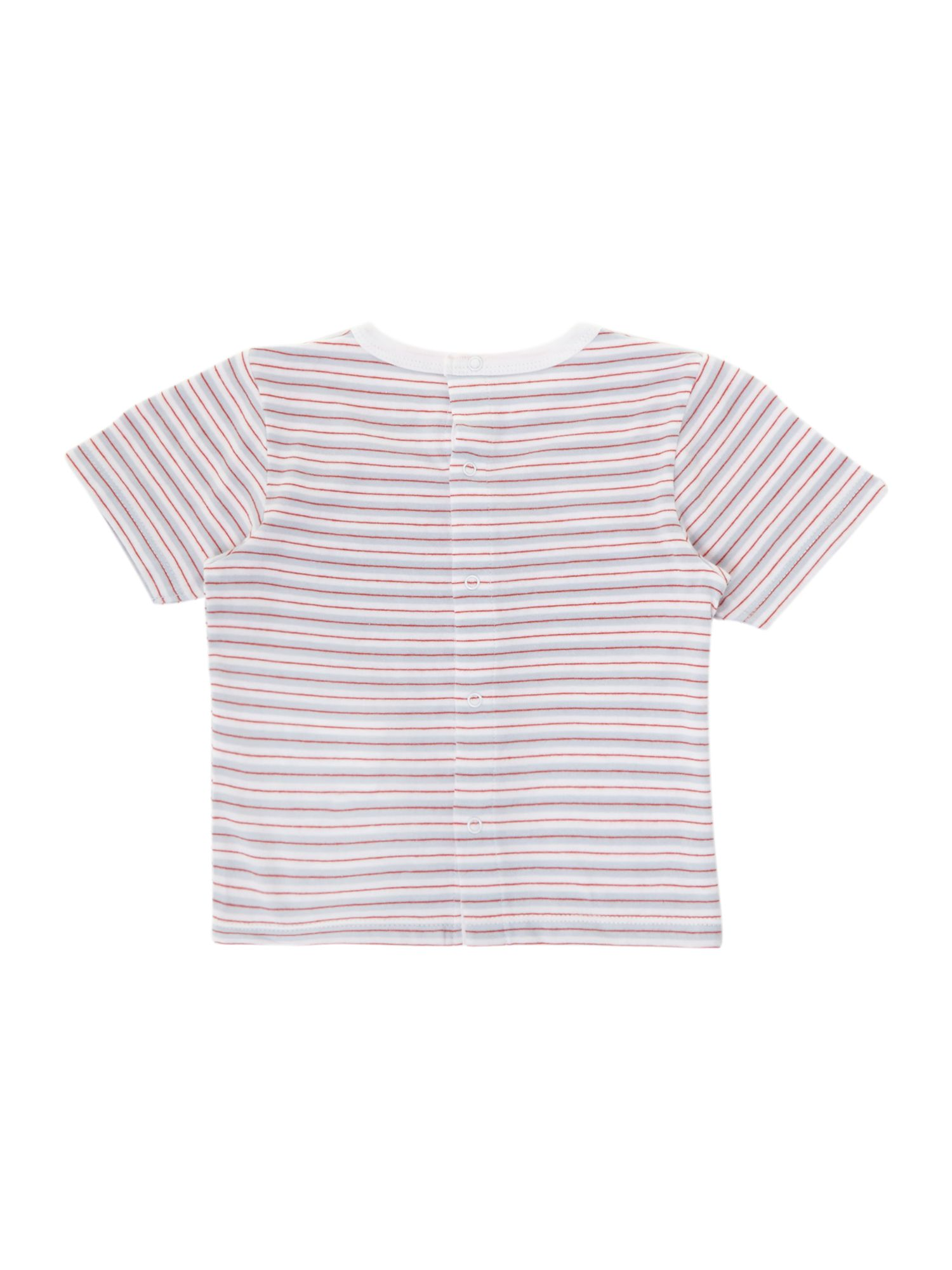 Boy`s stripe short sleeve t-shirt