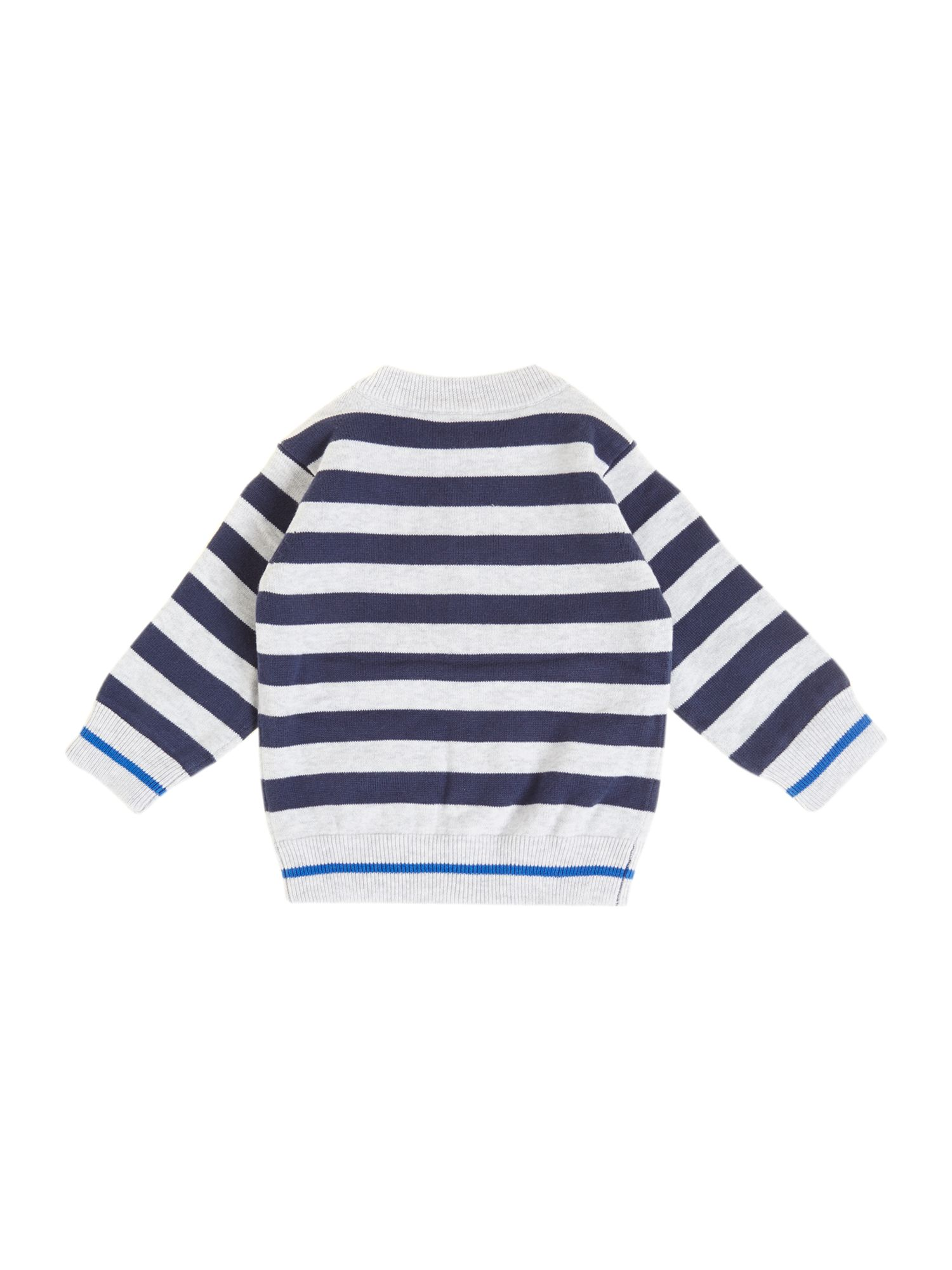 Boy`s reversible knitted long sleeve cardigan