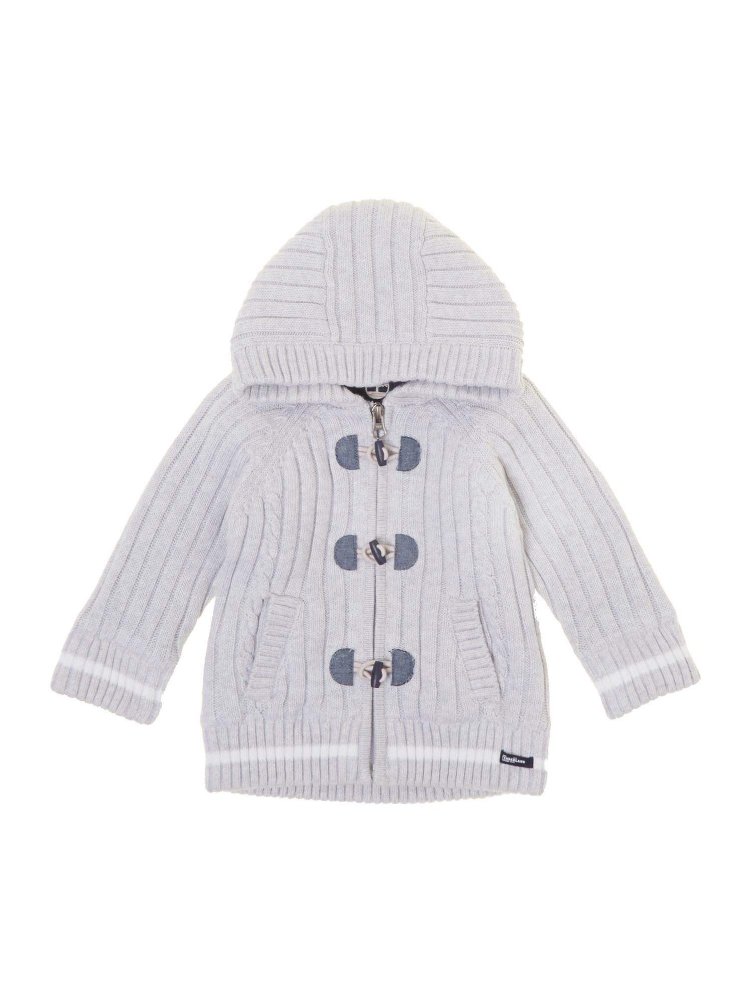 Boy`s knitted hooded cardigan