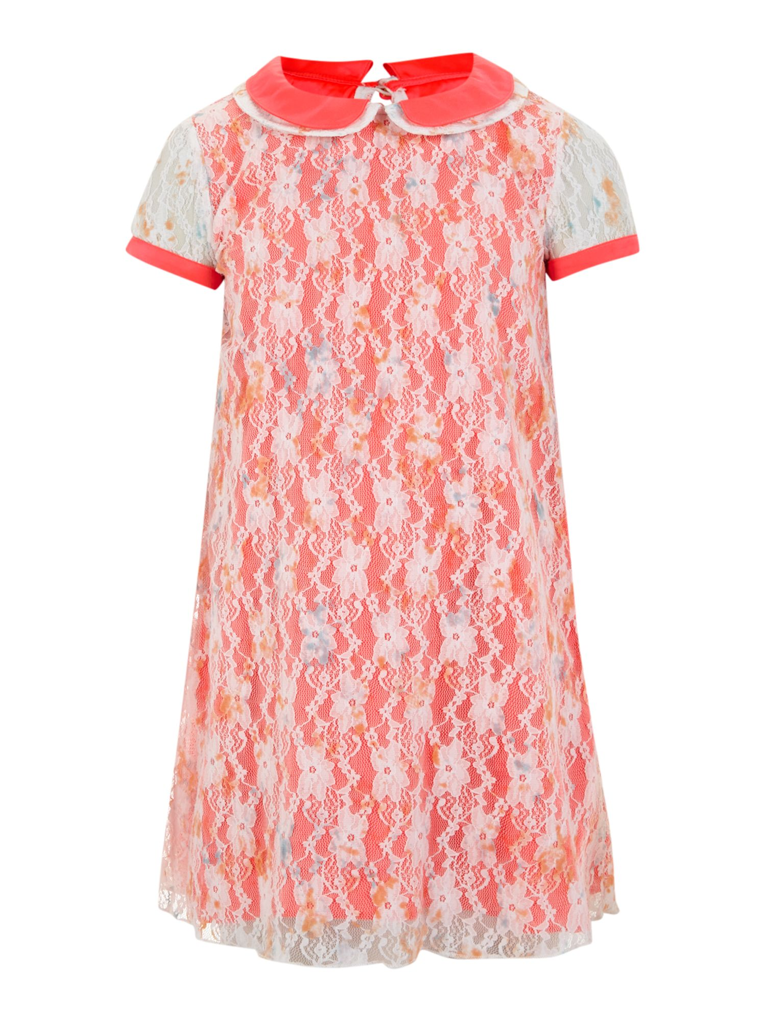 Girl`s short sleeve lace dress