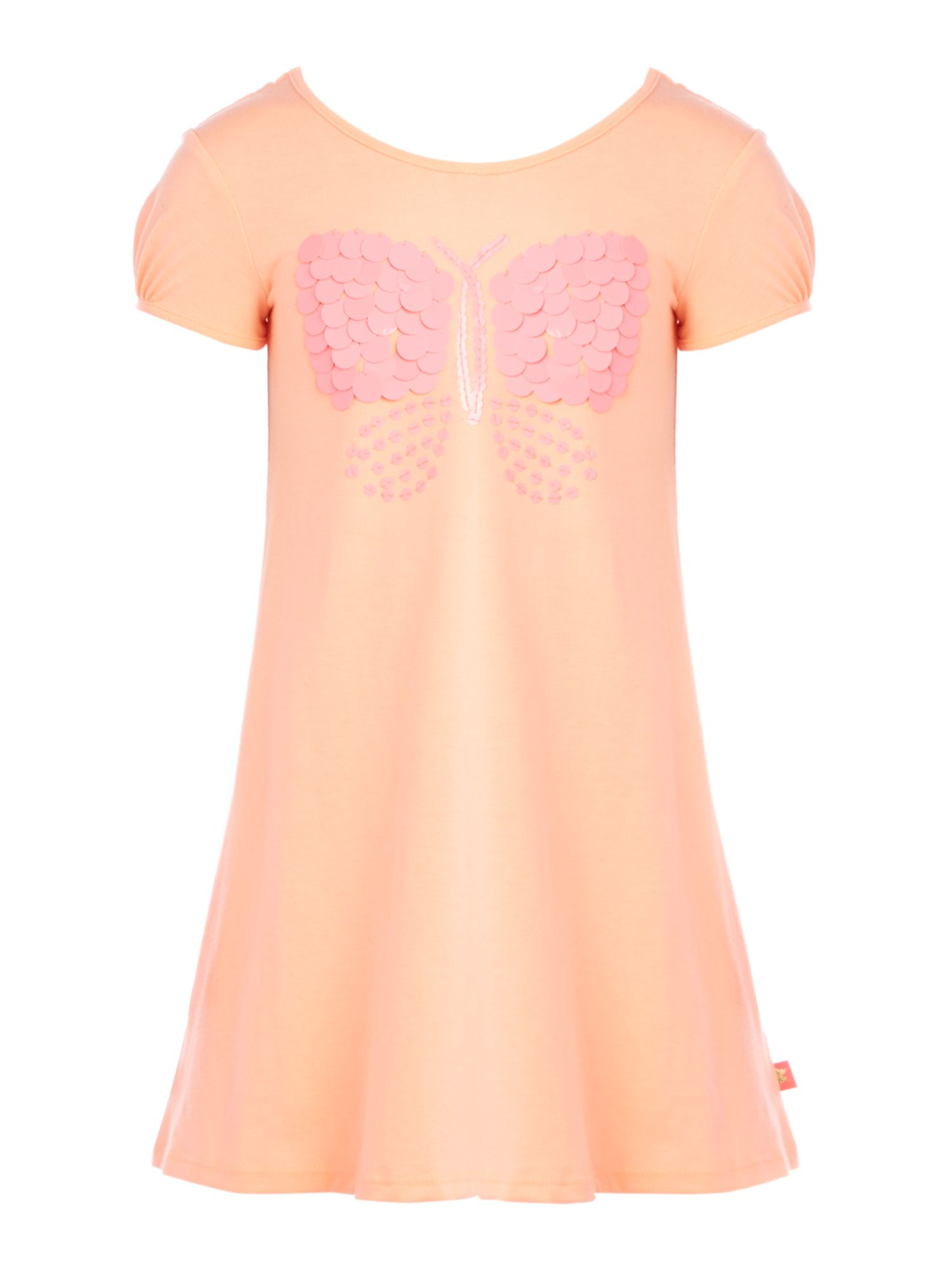 Girl`s short sleeve butterfly dress