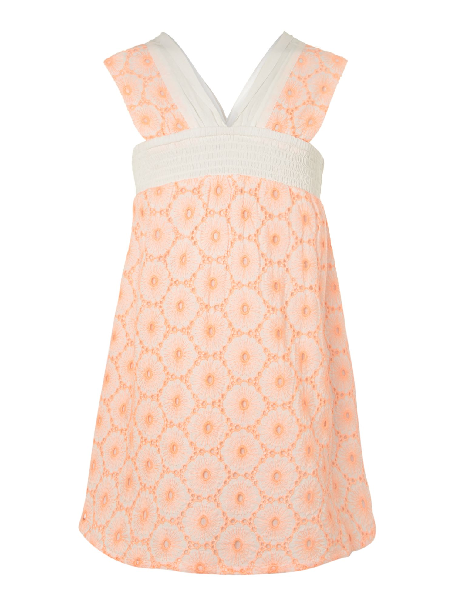 Girl`s broderie anglaise sleeveless dress