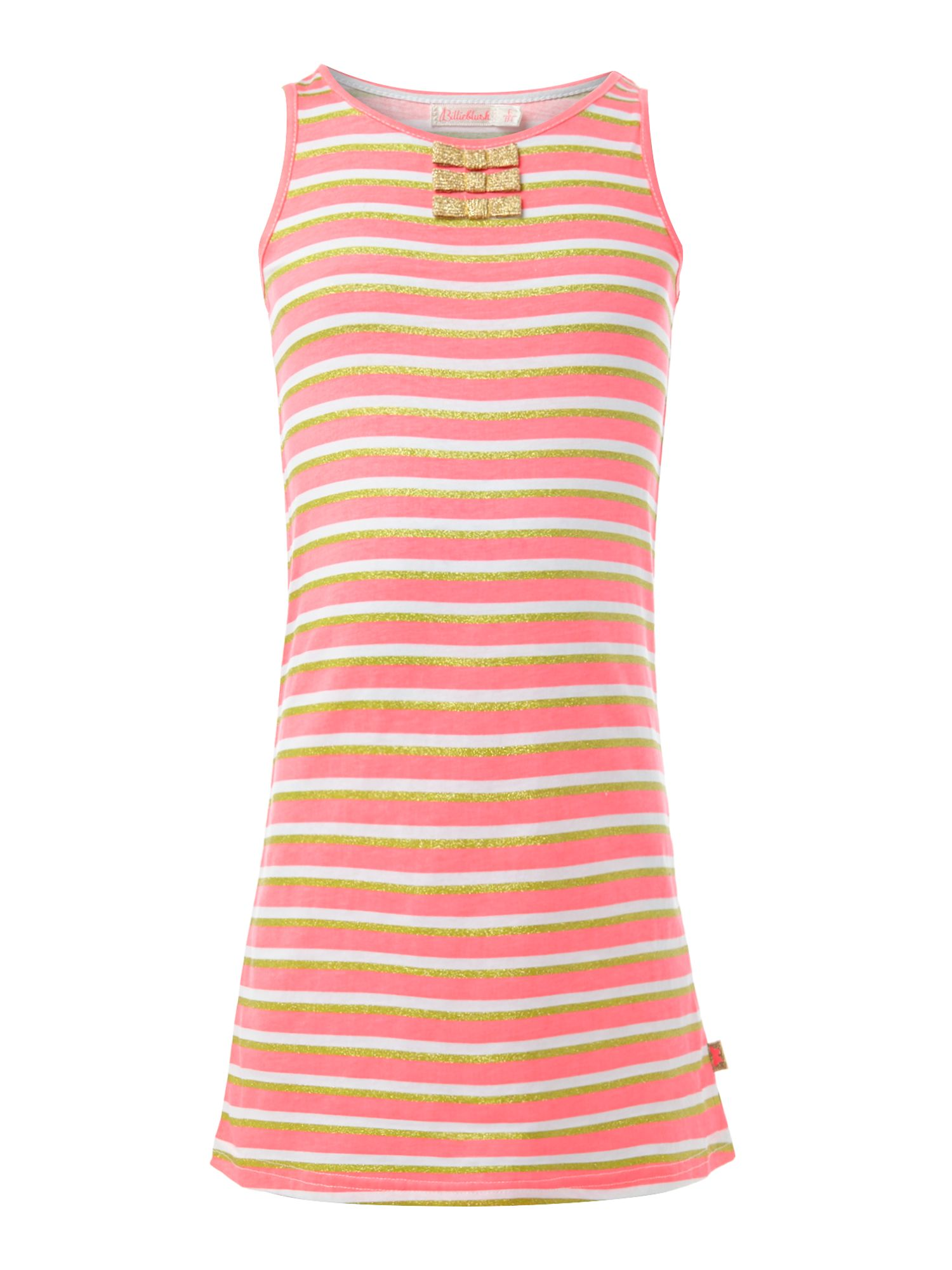 Girl`s striped jersey sleeveless dress