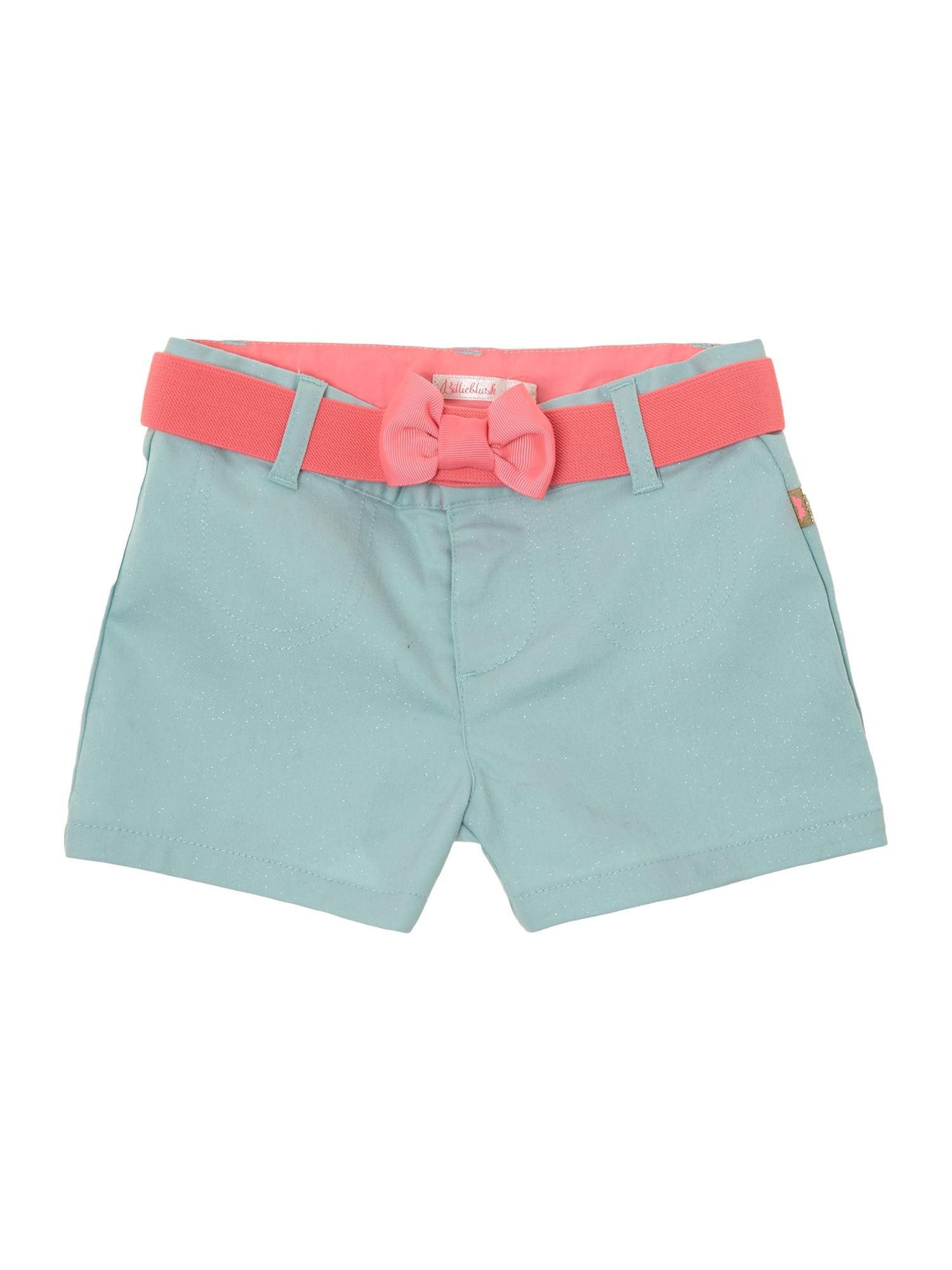 Girl`s iridescent poplin shorts
