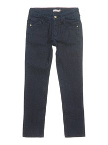 Girl`s spotted denim jeans