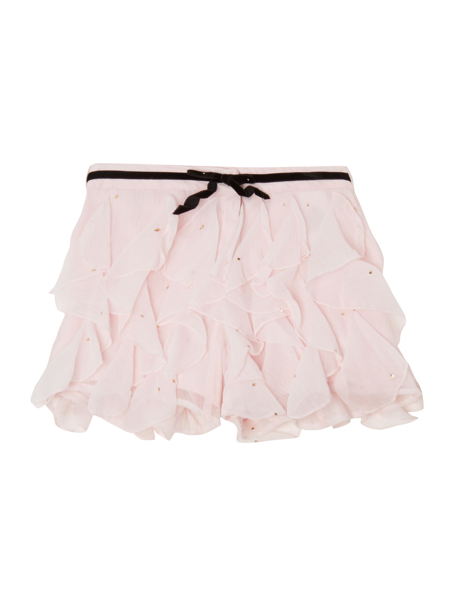 Girl`s crepe frilled shorts