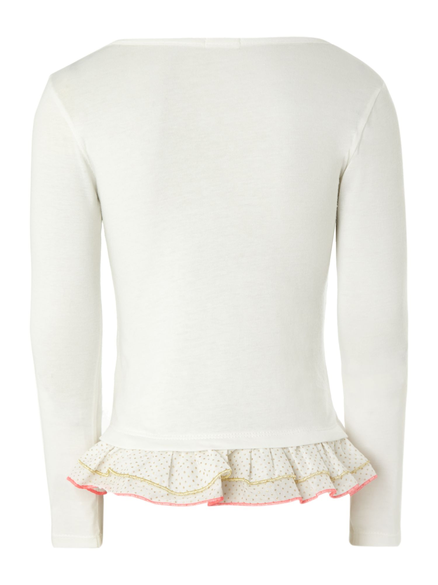Girl`s long sleeve frill t-shirt