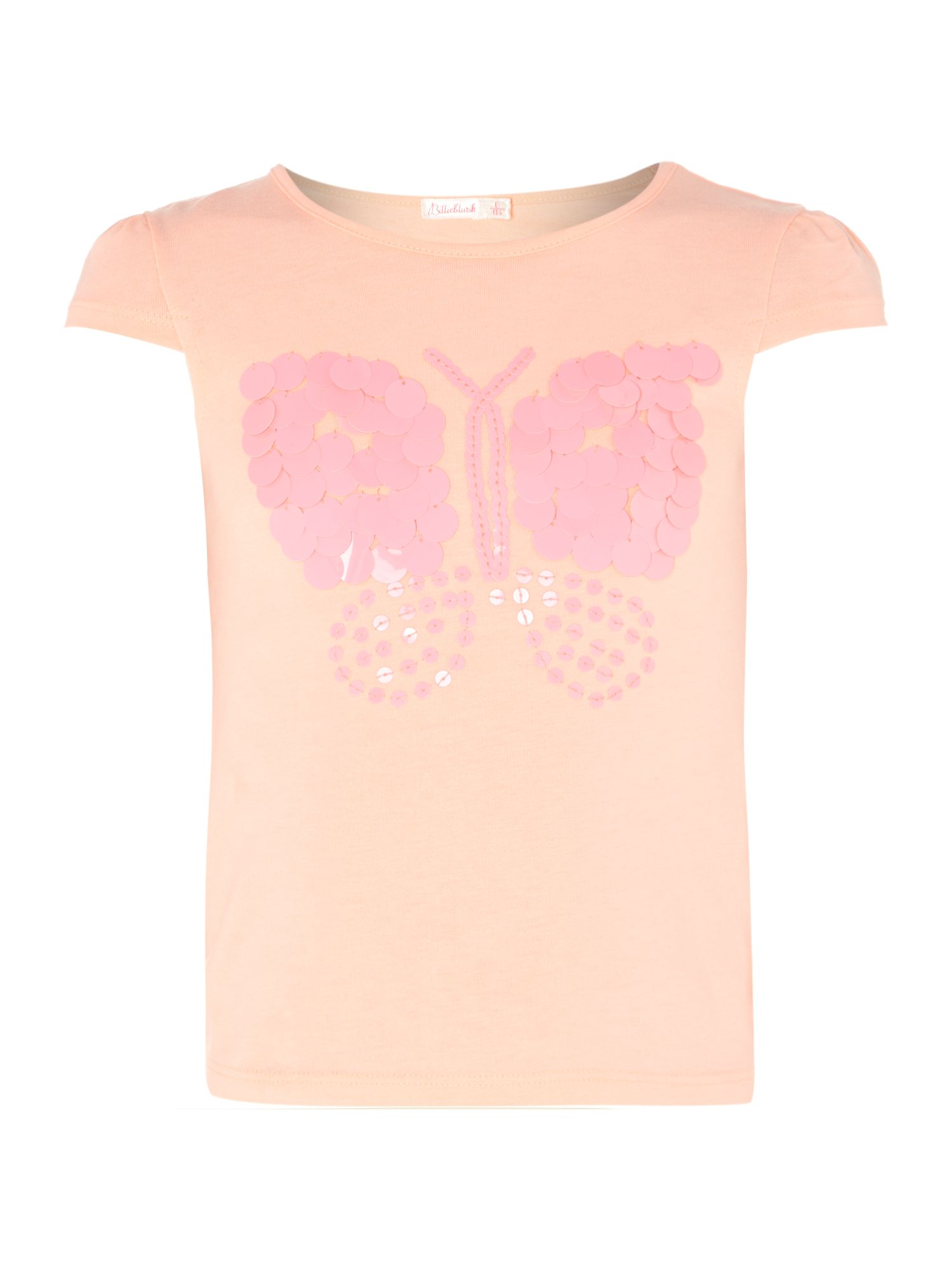 Girl`s short sleeve butterfly t-shirt