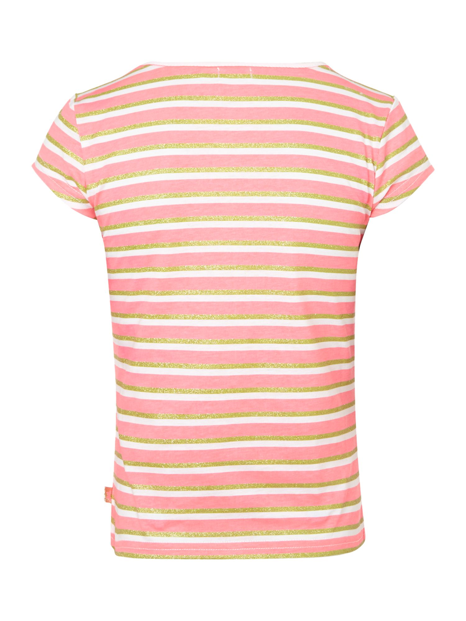 Girl`s striped short sleeve t-shirt