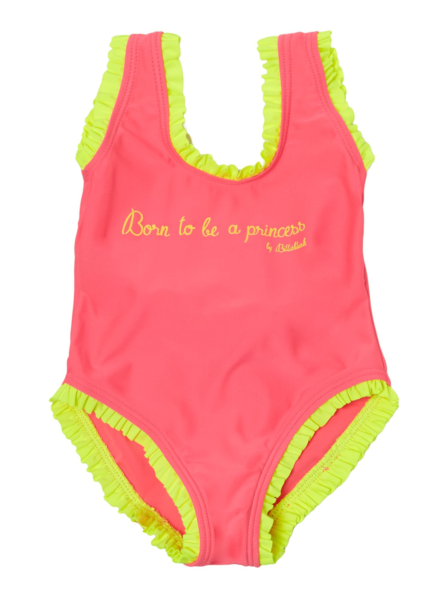 Girl`s neon swimsuit