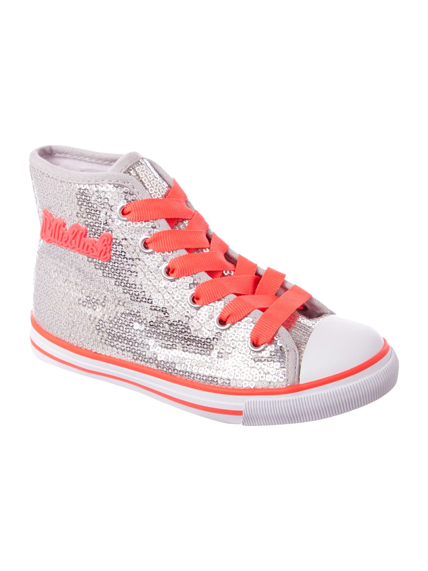 Girl`s glittery trainers
