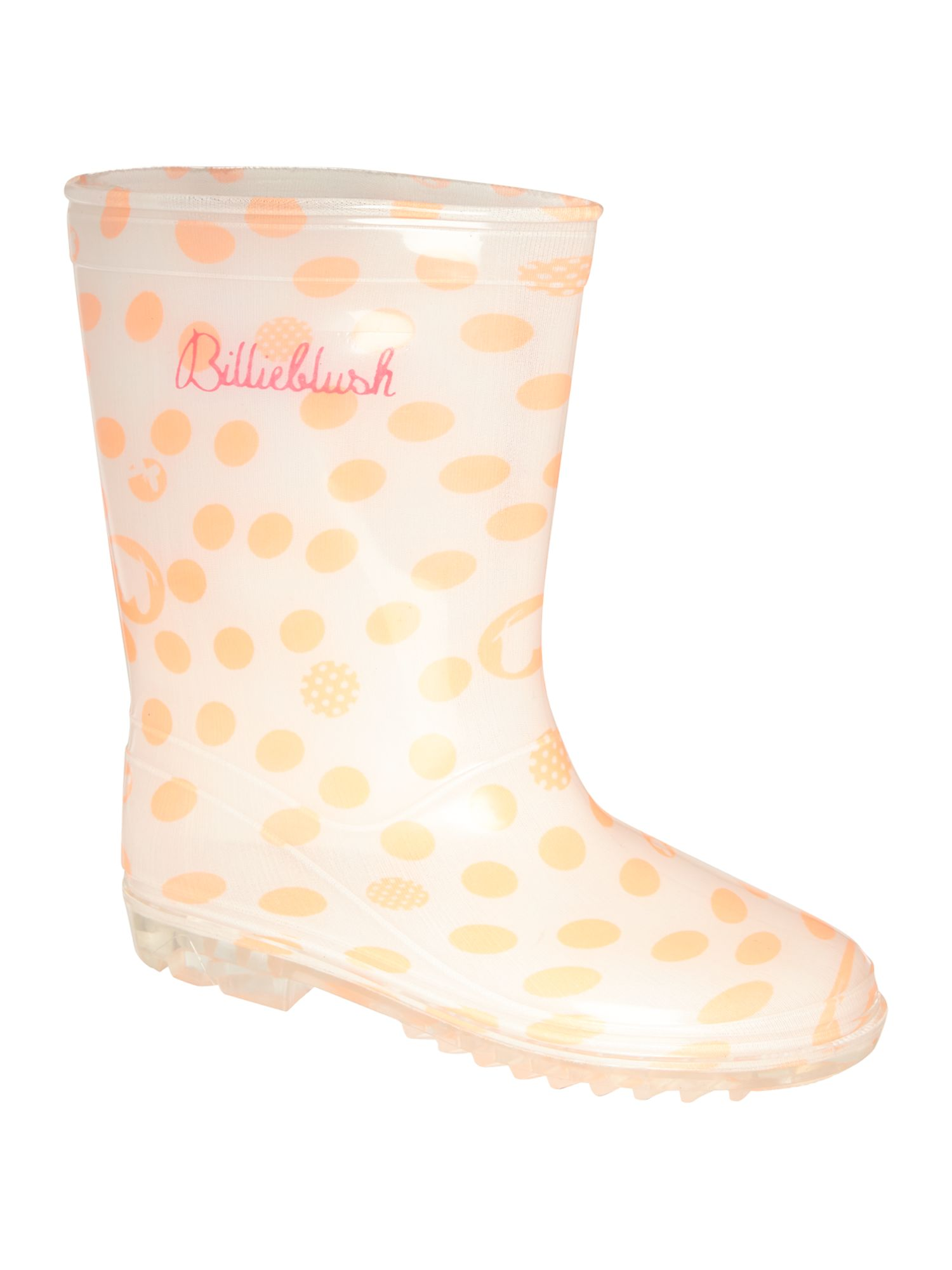 Girl`s spotted wellington boots
