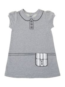 Girl`s short sleeve purse dress