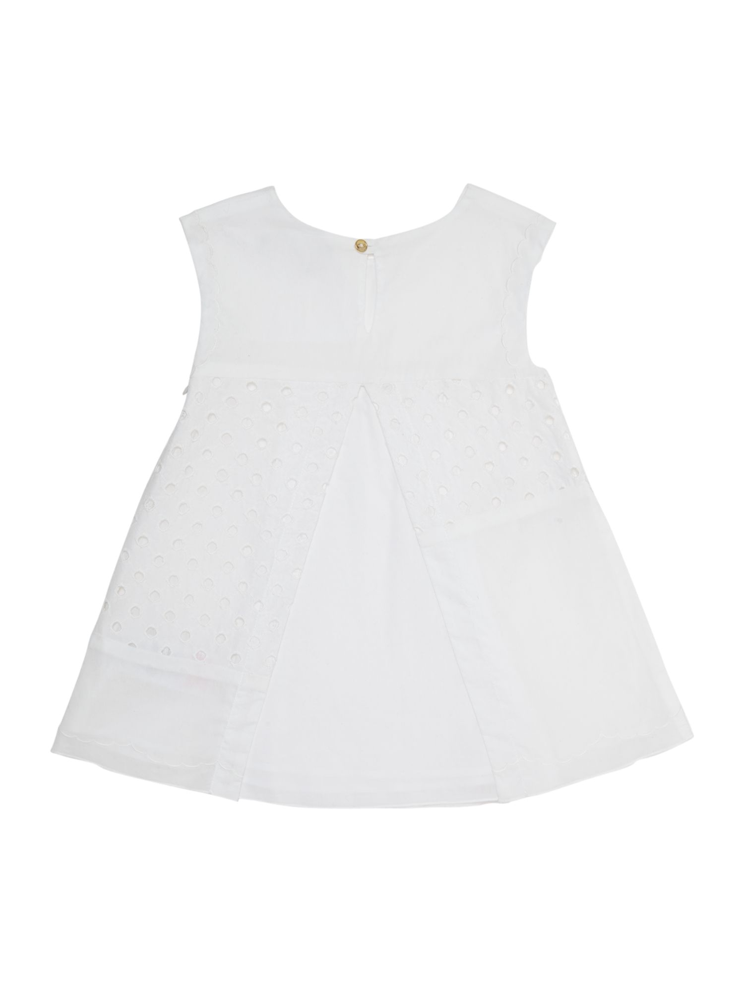 Girl`s poplin short sleeve dress