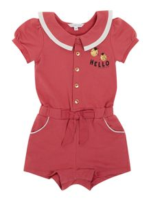 Girl`s hello playsuit