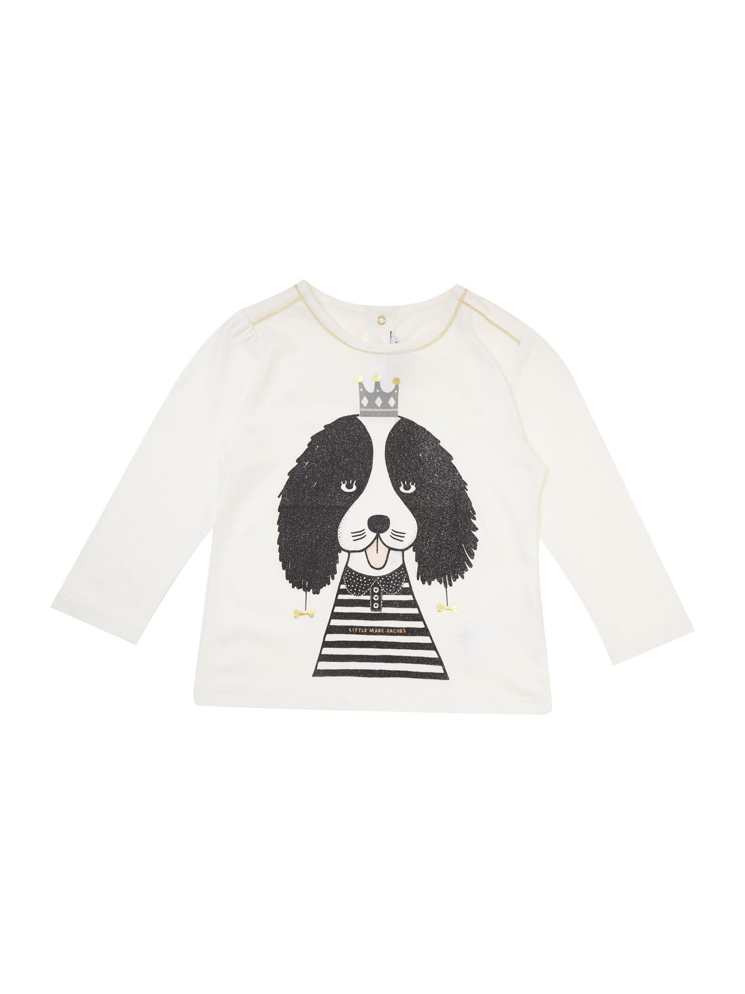 Girl`s long sleeve dog t-shirt