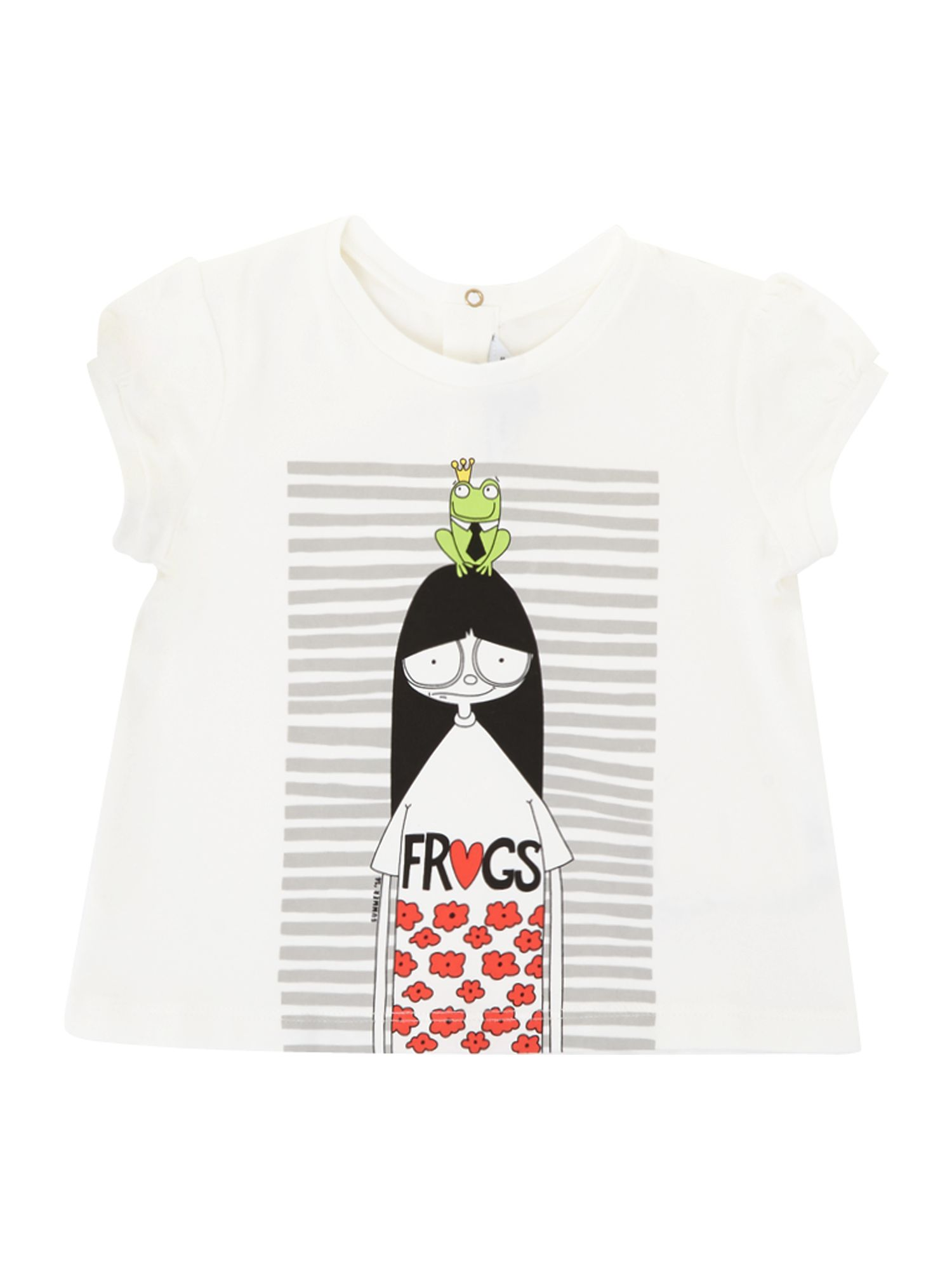 Girl`s short sleeve illustration t-shirt