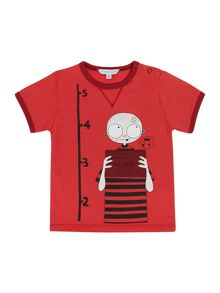 Boy`s short sleeve illustration t-shirt
