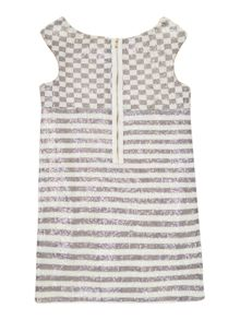Girl`s striped sleeveless dress