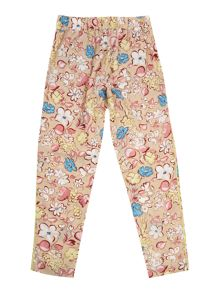 Girl`s floral print trousers