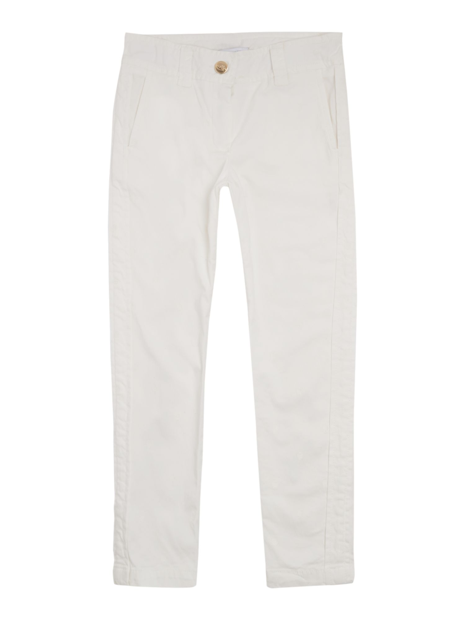 Girls dot print twill trousers